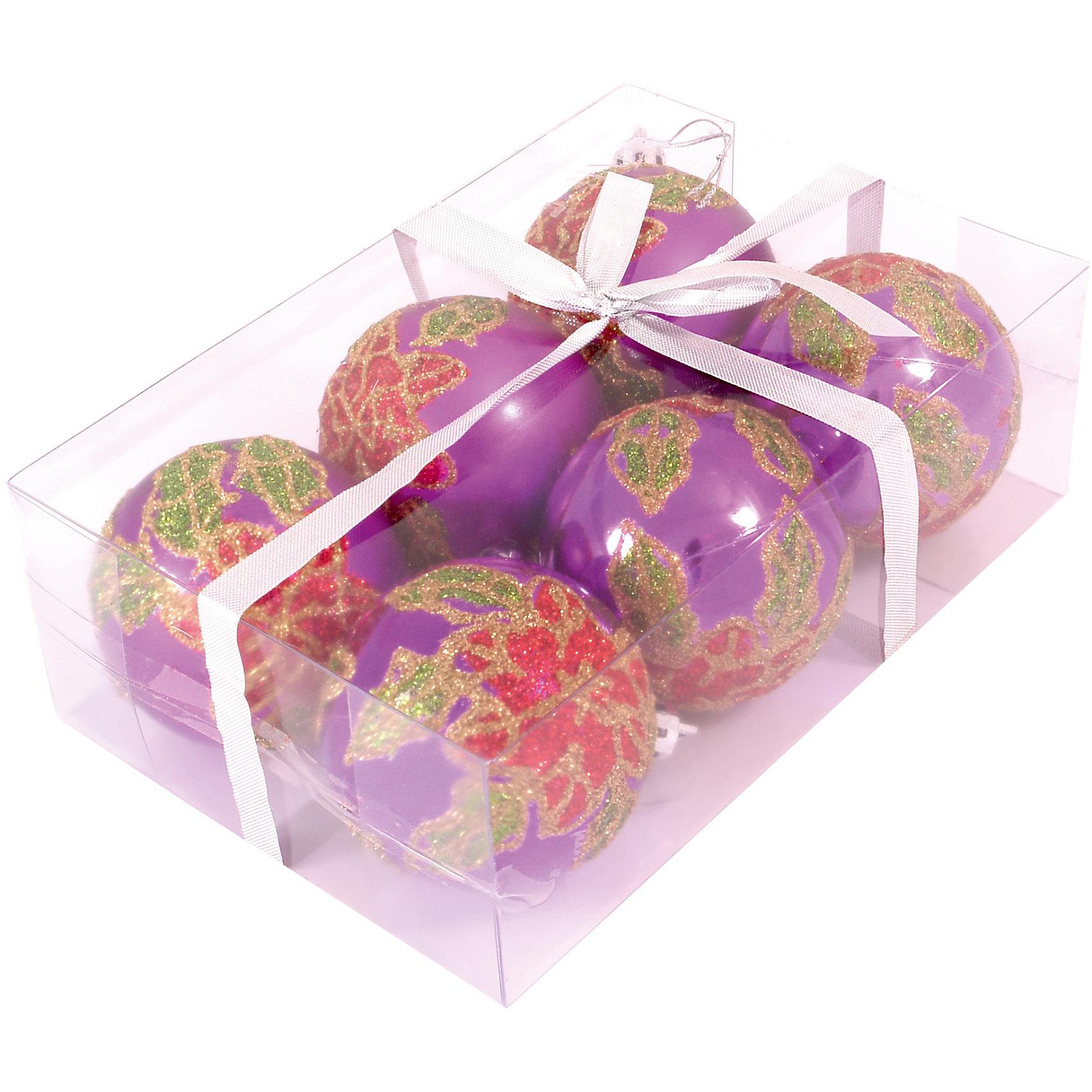Шары с рисунком, 6 см, 6 шт., цвет - сиреневыйШары с рисунком, Волшебная страна станут замечательным украшением для Вашей новогодней елки и помогут создать праздничную волшебную атмосферу. В комплекте шесть<br>сиреневых шаров, украшенных красными звездочками, они будут чудесно смотреться на елке и радовать детей и взрослых. Шары упакованы в прозрачную коробочку из ПВХ.<br><br>Дополнительная информация:<br><br>- Цвет: сиреневый.<br>- В комплекте: 6 шт.<br>- Диаметр шара: 6 см.<br>- Размер упаковки: 17,5 x 11,5 x 6 см.<br>- Вес: 90 гр.<br><br>Шары с рисунком, Волшебная страна, можно купить в нашем интернет-магазине.<br><br>Ширина мм: 370<br>Глубина мм: 120<br>Высота мм: 60<br>Вес г: 90<br>Возраст от месяцев: 60<br>Возраст до месяцев: 180<br>Пол: Унисекс<br>Возраст: Детский<br>SKU: 3791387