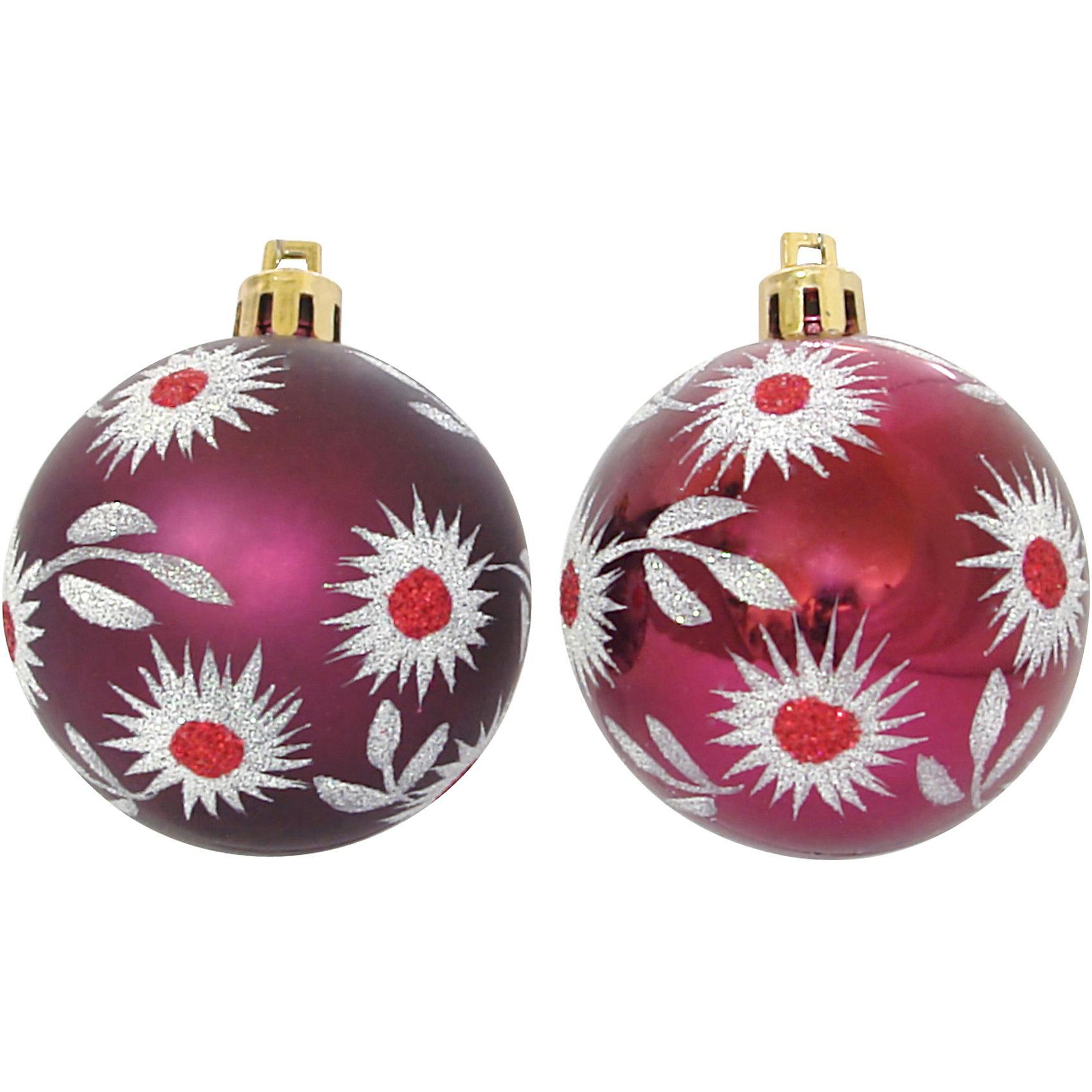 Шары с рисунком, 6 см, 6 шт., цвет - бордоВсё для праздника<br>Шары с рисунком, Волшебная страна станут замечательным украшением для Вашей новогодней елки и помогут создать праздничную волшебную атмосферу. В комплекте шесть<br>бордовых шаров с красивым цветочным рисунком, они будут чудесно смотреться на елке и радовать детей и взрослых. Шары упакованы в прозрачную коробочку из ПВХ.<br><br>Дополнительная информация:<br><br>- Цвет: бордо.<br>- В комплекте: 6 шт.<br>- Диаметр шара: 6 см.<br>- Размер упаковки: 17,7 x 6 x 11,7 см.<br>- Вес: 85 гр.<br><br>Шары с рисунком, Волшебная страна, можно купить в нашем интернет-магазине.<br><br>Ширина мм: 370<br>Глубина мм: 60<br>Высота мм: 120<br>Вес г: 85<br>Возраст от месяцев: 60<br>Возраст до месяцев: 180<br>Пол: Унисекс<br>Возраст: Детский<br>SKU: 3791391