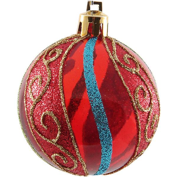 Шары с рисунком, 6 см, 6 шт., цвет-красныйЁлочные игрушки<br>Шары с рисунком, Волшебная страна станут замечательным украшением для Вашей новогодней елки и помогут создать праздничную волшебную атмосферу. В комплекте шесть<br>красных шаров с рисунком в клетку, они будут чудесно смотреться на елке и радовать детей и взрослых. Шары упакованы в прозрачную коробочку из ПВХ.<br><br>Дополнительная информация:<br><br>- Цвет: красный.<br>- В комплекте: 6 шт.<br>- Диаметр шара: 6 см.<br>- Размер упаковки: 17,5 x 11,5 x 6 см.<br>- Вес: 90 гр.<br><br>Шары с рисунком, Волшебная страна, можно купить в нашем интернет-магазине.<br><br>Ширина мм: 370<br>Глубина мм: 120<br>Высота мм: 60<br>Вес г: 90<br>Возраст от месяцев: 60<br>Возраст до месяцев: 180<br>Пол: Унисекс<br>Возраст: Детский<br>SKU: 3791394