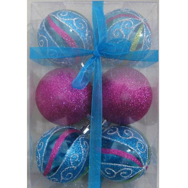 Шары в наборе, 6 см,  6 шт., 4 шт.Ёлочные игрушки<br>Шары, Волшебная страна станут замечательным украшением для Вашей новогодней елки и помогут создать праздничную волшебную атмосферу. В комплекте шесть шаров: 4<br>прозрачных с рисунком и 2 сверкающих, они будут чудесно смотреться на елке и радовать детей и взрослых. Шары упакованы в прозрачную коробочку из ПВХ.<br><br>Дополнительная информация:<br><br>- Цвет: синий, фиолетовый.<br>- В комплекте: 6 шт.<br>- Диаметр шара: 6 см.<br>- Размер упаковки: 17,5 x 6 x 11,7 см.<br>- Вес: 98 гр.<br><br>Шары в наборе, Волшебная страна можно купить в нашем интернет-магазине.<br><br>Ширина мм: 380<br>Глубина мм: 60<br>Высота мм: 120<br>Вес г: 98<br>Возраст от месяцев: 60<br>Возраст до месяцев: 180<br>Пол: Унисекс<br>Возраст: Детский<br>SKU: 3791395