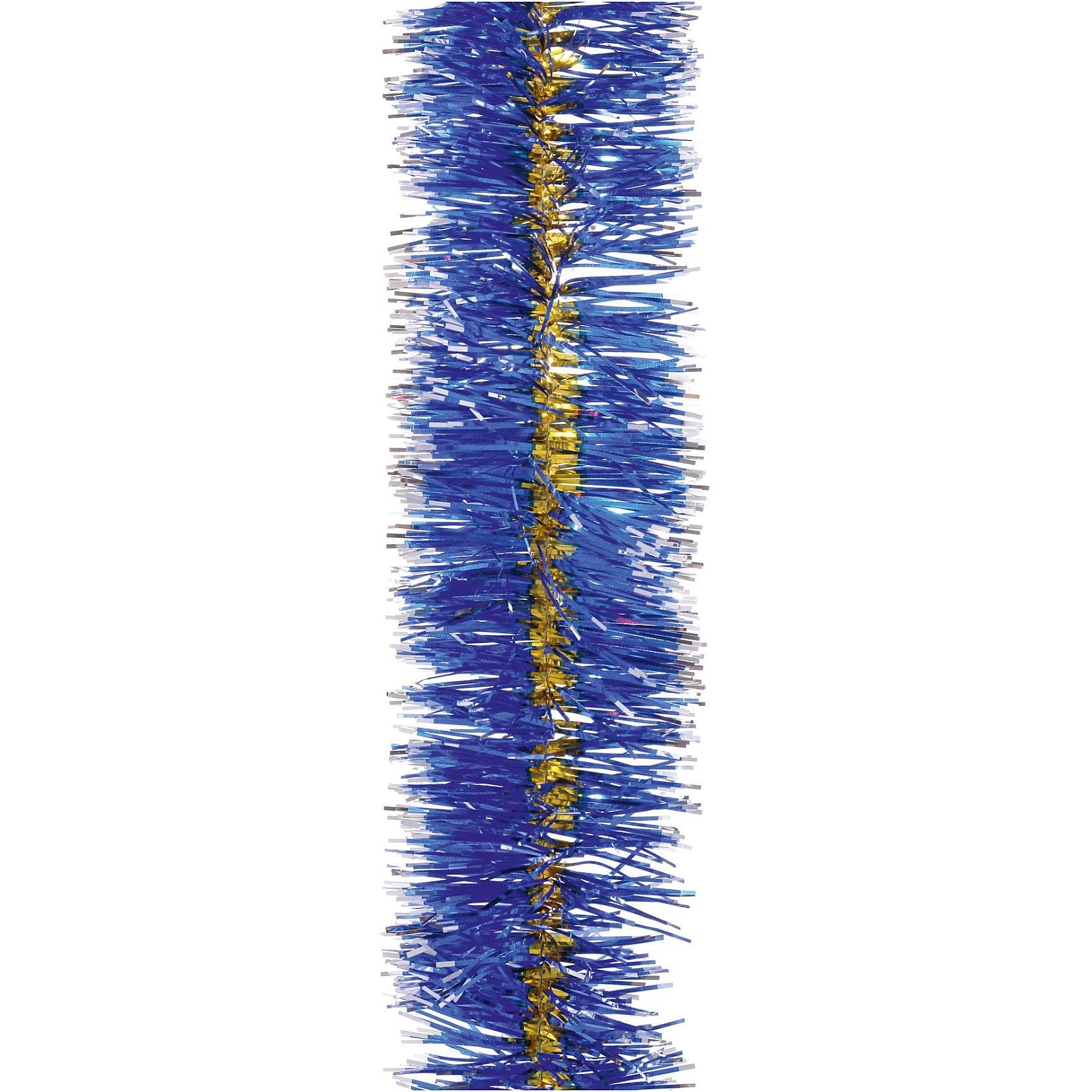 Мишура 4 слоя, 7 см х 2 м, цвет - синий+золотоМишура H-2007, Волшебная страна станет замечательным украшением Вашей новогодней елки или интерьера и поможет создать праздничную волшебную атмосферу. Мишура<br>красивого синего цвета с золотой отделкой состоит из четырех слоев, она будет чудесно смотреться на елке и радовать детей и взрослых. <br><br>Дополнительная информация:<br><br>- Цвет: синий + золото.<br>- Размер мишуры: 7 см. х 2 м.<br>- Вес: 45 гр. <br><br>Мишуру H-2007, 4 слоя, Волшебная страна можно купить в нашем интернет-магазине.<br><br>Ширина мм: 500<br>Глубина мм: 70<br>Высота мм: 70<br>Вес г: 45<br>Возраст от месяцев: 60<br>Возраст до месяцев: 180<br>Пол: Унисекс<br>Возраст: Детский<br>SKU: 3791406