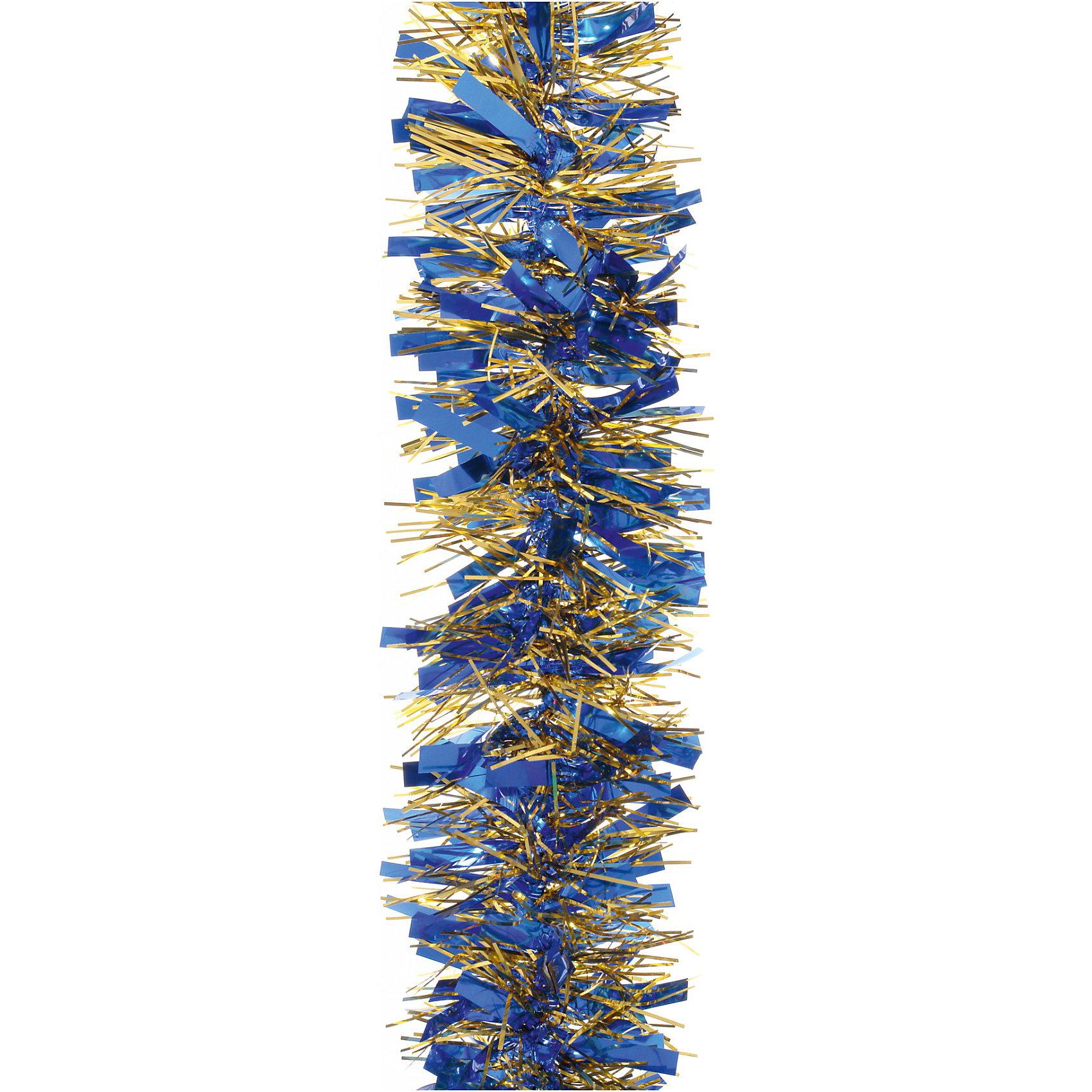 Мишура, 6 слоев, 10 см х 2 м, цвет - синий+золотоВсё для праздника<br>Мишура H-2032, Волшебная страна станет замечательным украшением Вашей новогодней елки или интерьера и поможет создать праздничную волшебную атмосферу. Мишура<br>красивого синего цвета декорирована золотистыми вставками и состоит из шести слоев, она будет чудесно смотреться на елке и радовать детей и взрослых. <br><br>Дополнительная информация:<br><br>- Цвет: синий + золото.<br>- Размер мишуры: 10 см. х 2 м.<br>- Вес: 95 гр. <br><br>Мишуру H-2032, 6 слоев, Волшебная страна можно купить в нашем интернет-магазине.<br><br>Ширина мм: 520<br>Глубина мм: 100<br>Высота мм: 100<br>Вес г: 95<br>Возраст от месяцев: 60<br>Возраст до месяцев: 180<br>Пол: Унисекс<br>Возраст: Детский<br>SKU: 3791418