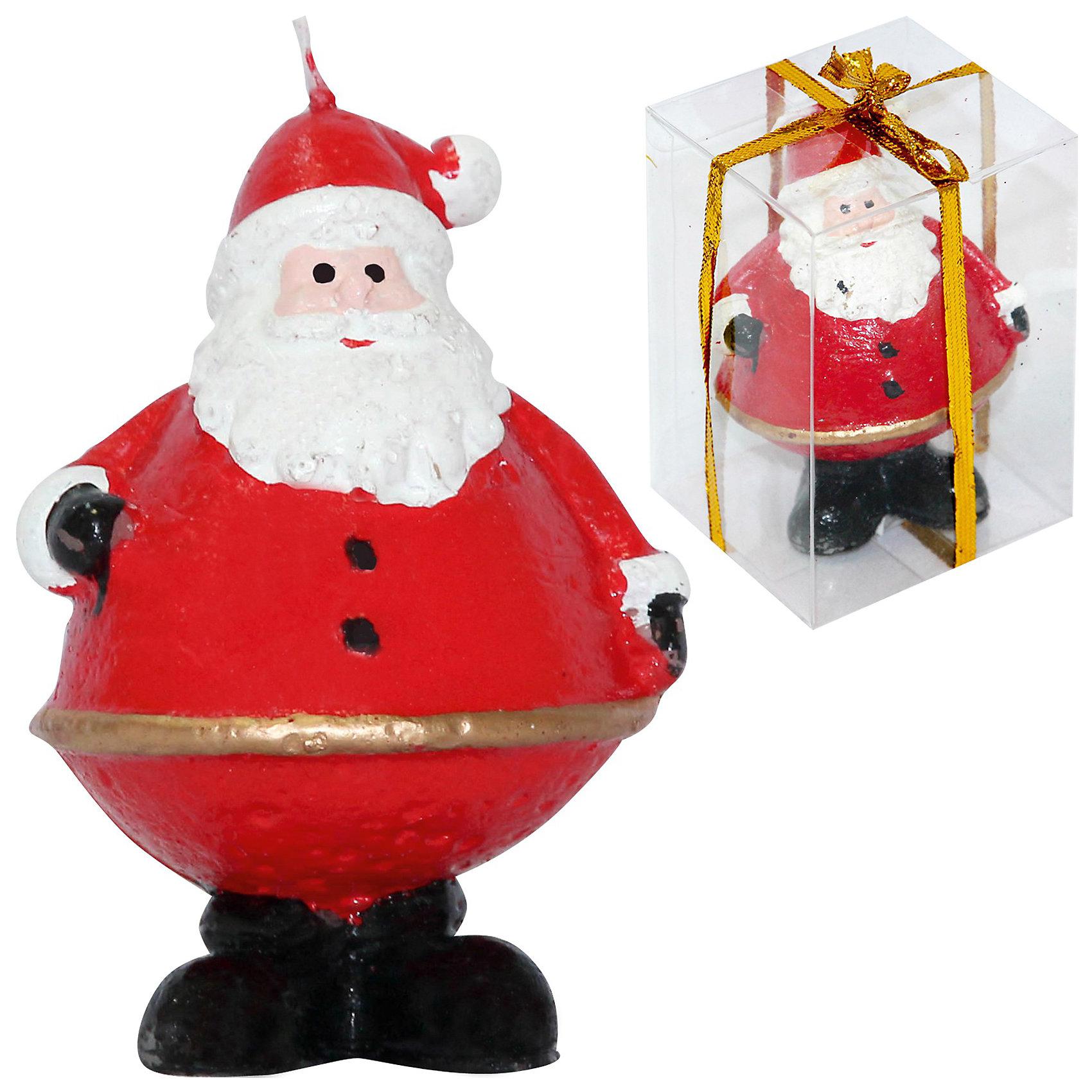 Свеча Дед МорозЁлочные игрушки<br>Свеча Дед Мороз, Волшебная страна станет замечательным украшением Вашего новогоднего интерьера и приятным сувениром для родных и друзей. Свечка выполнена в виде<br>фигурки веселого Деда Мороза в традиционном красном кафтане.<br><br>Дополнительная информация:<br><br>- Материал: парафин.<br>- Размер: 6,2 х 7 х 10,3 см.<br>- Вес: 151 гр. <br><br>Свечу Дед Мороз, Волшебная страна можно купить в нашем интернет-магазине.<br><br>Ширина мм: 420<br>Глубина мм: 70<br>Высота мм: 100<br>Вес г: 151<br>Возраст от месяцев: 60<br>Возраст до месяцев: 180<br>Пол: Унисекс<br>Возраст: Детский<br>SKU: 3791424