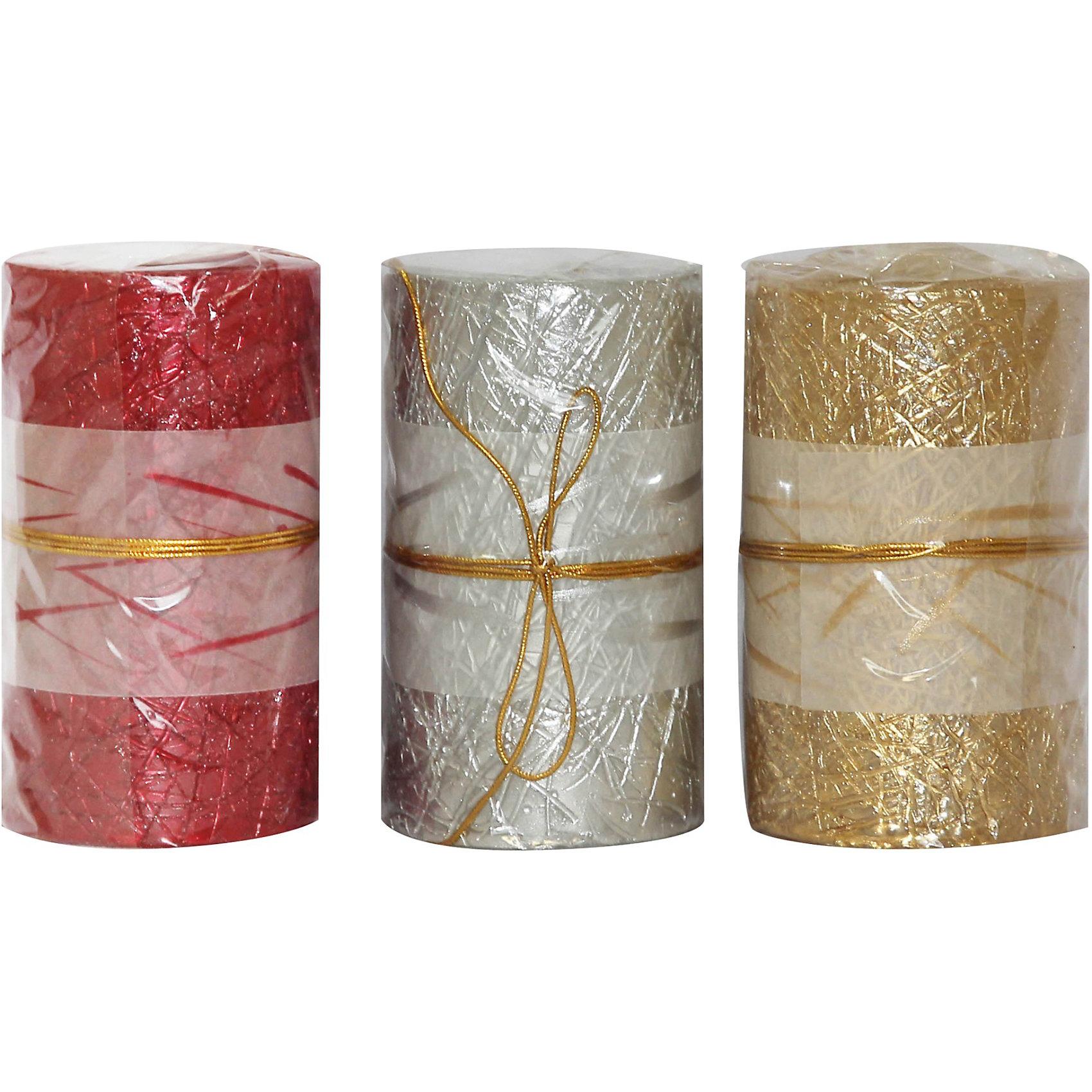 Свеча, 3 цвета в ассорт.Свеча NYC-60100N, Волшебная страна станет замечательным украшением Вашего новогоднего интерьера и приятным сувениром для родных и друзей. Свечка выполнена в<br>элегантном подарочном дизайне. Цвета в ассортименте (красный, золото, серебро).<br><br><br>Дополнительная информация:<br><br>- Материал: парафин.<br>- Размер: 10 х 6 х 6 см.<br>- Вес: 273 гр. <br><br>Свечу NYC-60100N, Волшебная страна можно купить в нашем интернет-магазине.<br><br>ВНИМАНИЕ! Данный артикул имеется в наличии в разных цветовых исполнениях. К сожалению, заранее выбрать определенный цвет не возможно.<br><br>Ширина мм: 420<br>Глубина мм: 60<br>Высота мм: 60<br>Вес г: 273<br>Возраст от месяцев: 60<br>Возраст до месяцев: 180<br>Пол: Унисекс<br>Возраст: Детский<br>SKU: 3791429