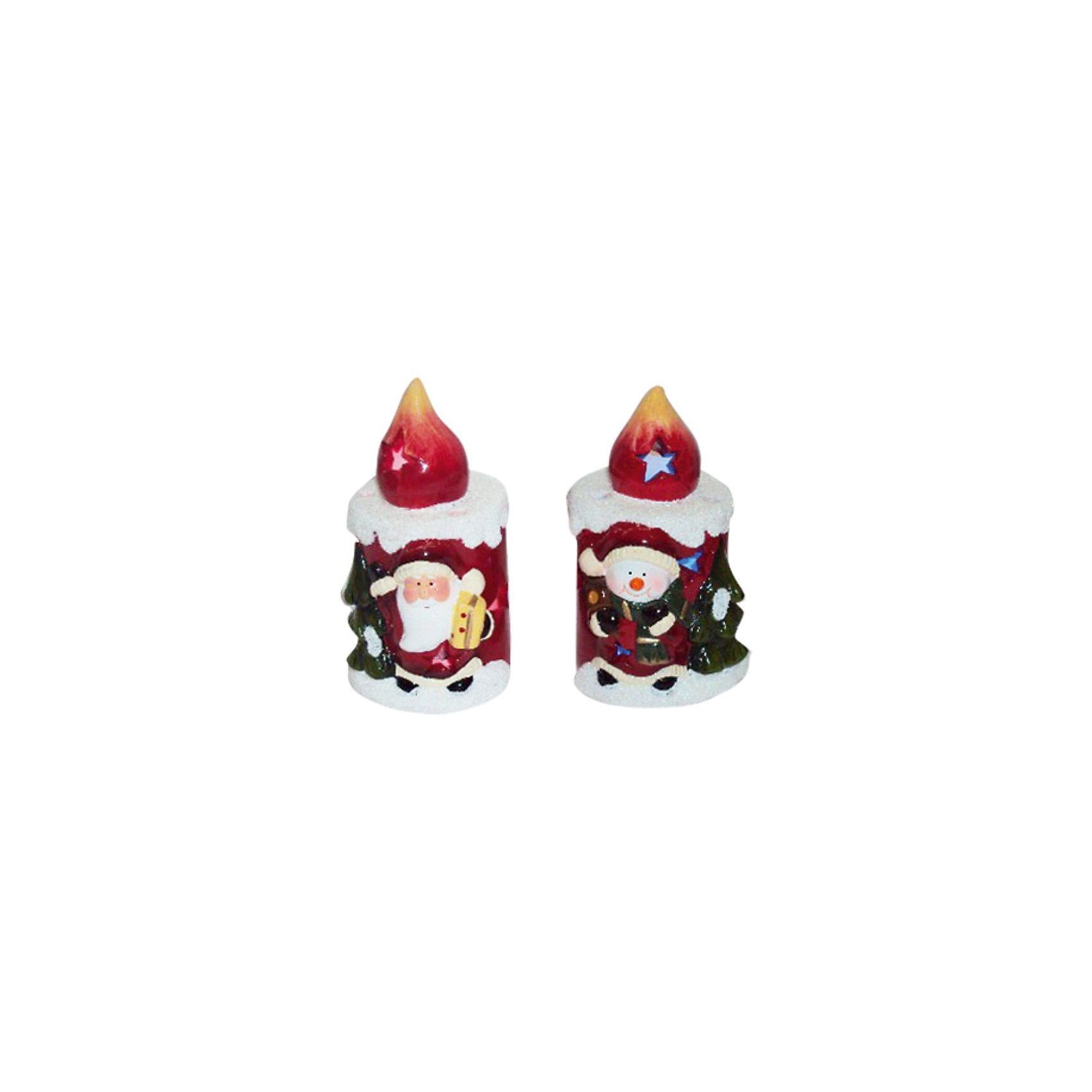 Сувенир керамический Свеча с LED подсветкойСувенир керамический Свеча, Волшебная страна станет замечательным украшением Вашего новогоднего интерьера и приятным подарком для родных и друзей. Сувенир<br>выполнен в форме нарядной свечи, украшенной изображением Деда Мороза. Оригинальная керамическая свечка с LED подсветкой порадует и взрослых и детей и поможет<br>создать волшебную атмосферу новогодних праздников.<br><br>Дополнительная информация:<br><br>- Материал: керамика.<br>- Размер: 7,5 x 7,5 x 12 см.<br>- Вес: 235 гр. <br><br>Сувенир керамический Свеча, Волшебная страна можно купить в нашем интернет-магазине.<br><br>Ширина мм: 540<br>Глубина мм: 80<br>Высота мм: 130<br>Вес г: 235<br>Возраст от месяцев: 60<br>Возраст до месяцев: 180<br>Пол: Унисекс<br>Возраст: Детский<br>SKU: 3791433