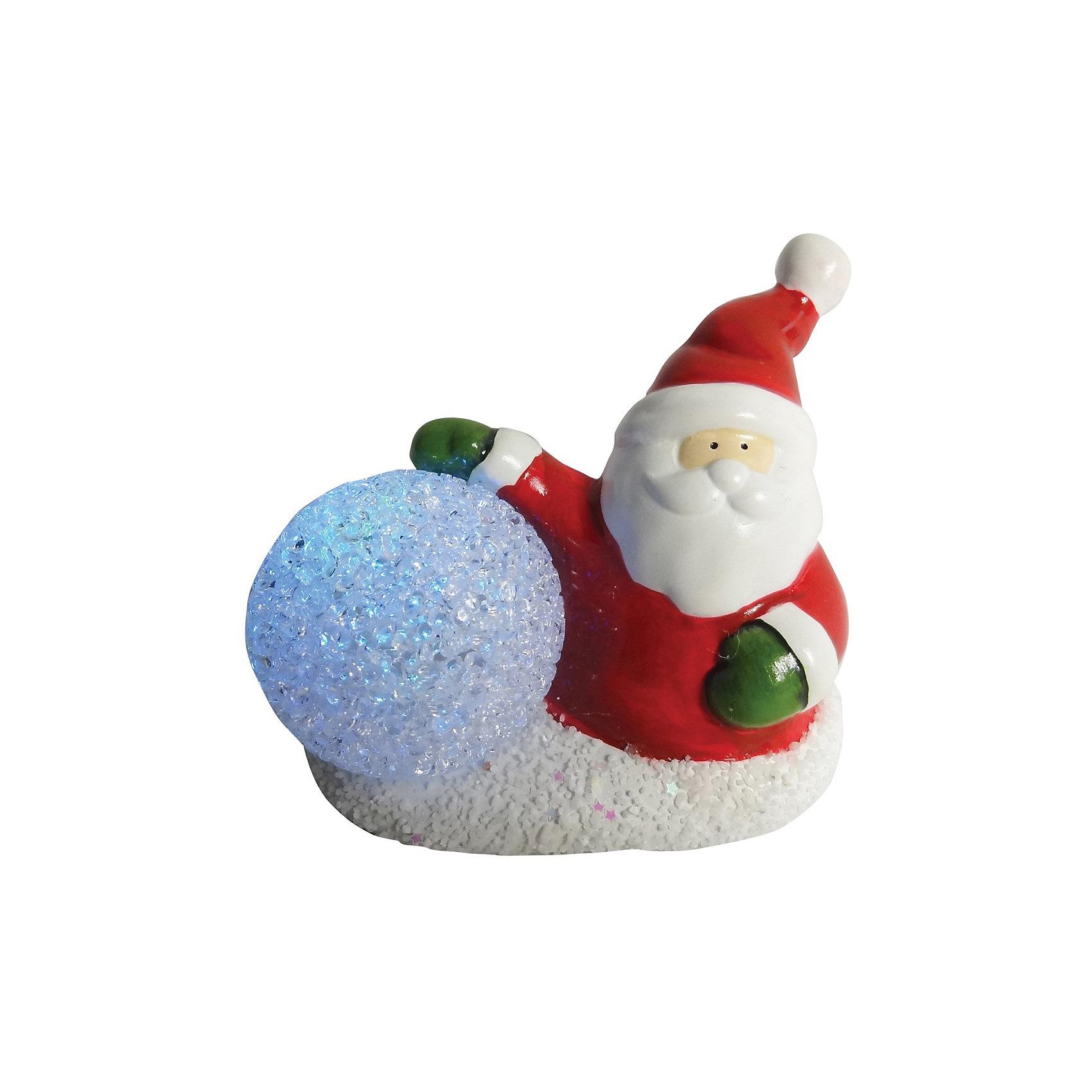 Сувенир керамический Дед Мороз с LED подсветкойСувенир керамический Дед Мороз, Волшебная страна станет замечательным украшением Вашего новогоднего интерьера и приятным подарком для родных и друзей. Сувенир<br>выполнен в виде фигурки Деда Мороза со снежным шаром. Поставленный под елку Дед Мороз с LED подсветкой порадует и взрослых и детей и поможет создать волшебную<br>атмосферу новогодних праздников.<br><br>Дополнительная информация:<br><br>- Материал: керамика.<br>- Размер: 11,5 x 6,8 x 9,5 см.<br>- Вес: 250 гр. <br><br>Сувенир керамический Дед Мороз, Волшебная страна можно купить в нашем интернет-магазине.<br><br>Ширина мм: 510<br>Глубина мм: 70<br>Высота мм: 100<br>Вес г: 250<br>Возраст от месяцев: 60<br>Возраст до месяцев: 180<br>Пол: Унисекс<br>Возраст: Детский<br>SKU: 3791437