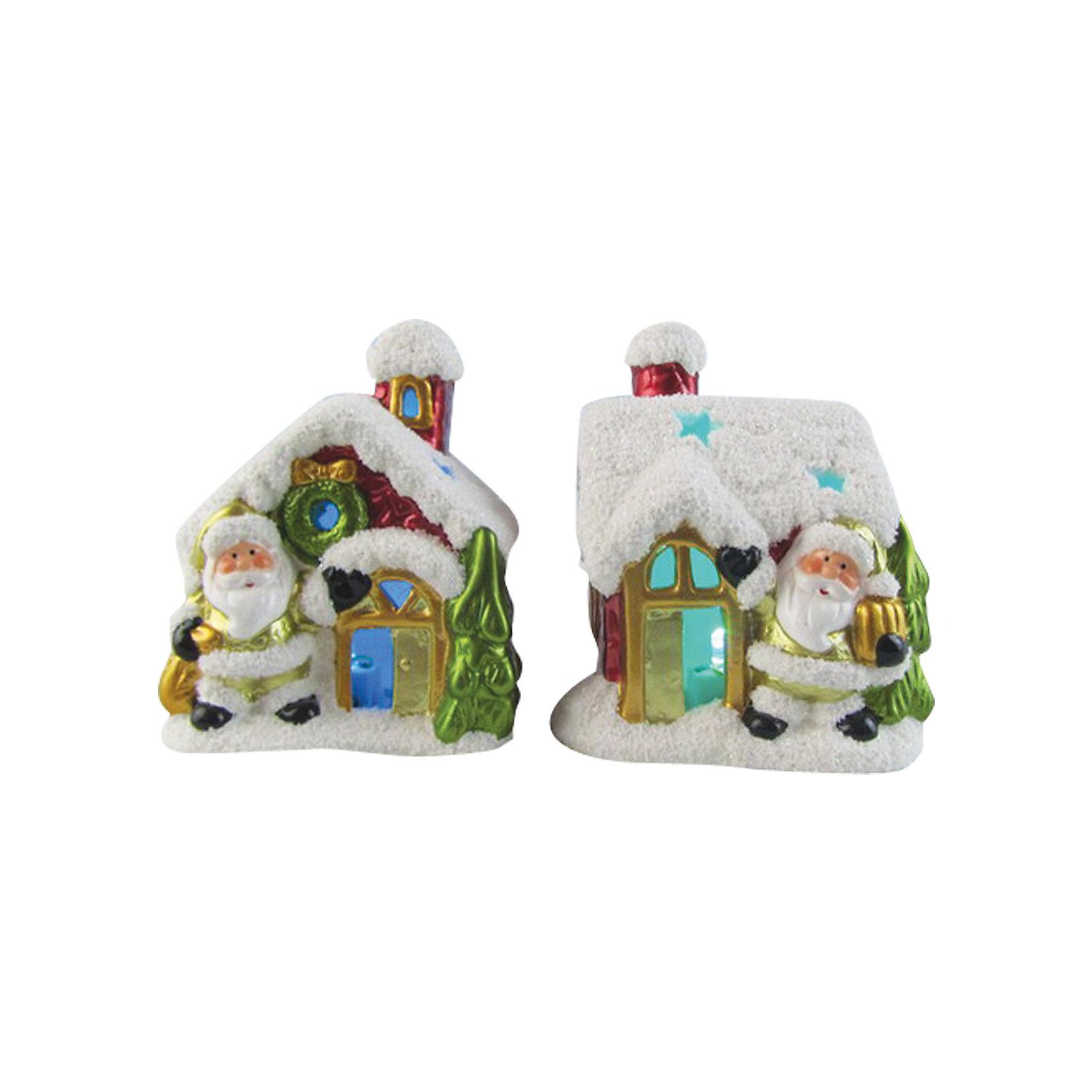 Сувенир керамический Домик с LED подсветкойСувенир керамический Домик, Волшебная страна станет замечательным украшением Вашего новогоднего интерьера и приятным подарком для родных и друзей. Сувенир<br>выполнен в форме симпатичного заснеженного домика с фигуркой Деда Мороза. Сказочный домик с LED подсветкой порадует и взрослых и детей и поможет создать волшебную<br>атмосферу новогодних праздников. В ассортименте представлены домики с разным дизайном.<br><br>Дополнительная информация:<br><br>- Материал: керамика.<br>- Размер: 10 x 8,3 x 12,2 см.<br>- Вес: 302 гр. <br><br>Сувенир керамический Домик, Волшебная страна можно купить в нашем интернет-магазине.<br><br>ВНИМАНИЕ! Данный артикул имеется в наличии в разных вариантах исполнения. Заранее выбрать определенный вариант нельзя. При заказе нескольких домиков возможно получение одинаковых.<br><br>Ширина мм: 440<br>Глубина мм: 80<br>Высота мм: 130<br>Вес г: 302<br>Возраст от месяцев: 60<br>Возраст до месяцев: 180<br>Пол: Унисекс<br>Возраст: Детский<br>SKU: 3791438