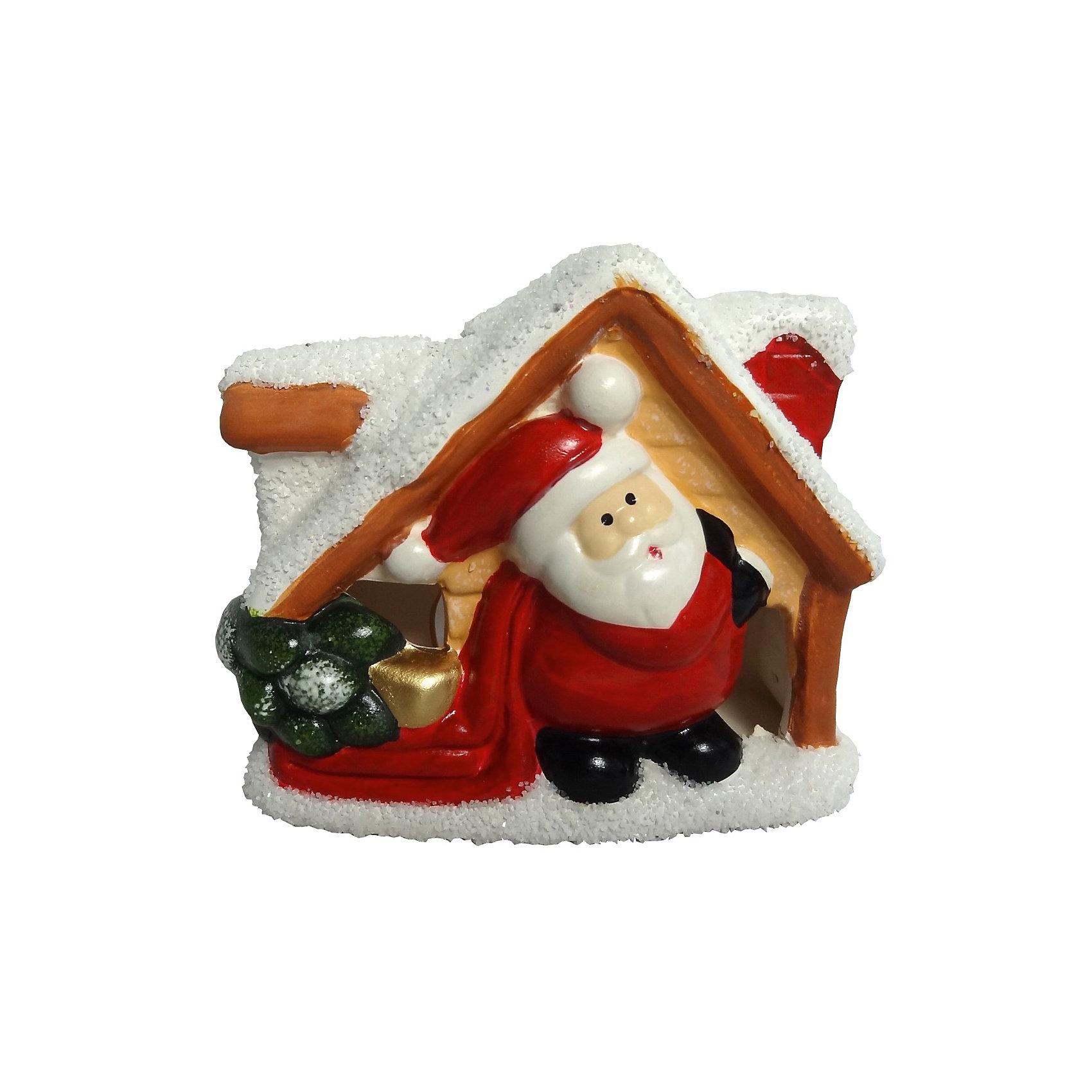 Подсвечник керамический ДомикПодсвечник керамический Домик, Волшебная страна станет замечательным украшением Вашего новогоднего интерьера и приятным сувениром для родных и друзей. Подсвечник<br>выполнен в форме симпатичного заснеженного домика с фигуркой Деда Мороза. Сказочный домик, подсвеченный свечой, порадует и взрослых и детей и поможет создать<br>волшебную атмосферу новогодних праздников.<br><br>Дополнительная информация:<br><br>- Материал: керамика.<br>- Размер: 12 x 5,3 x 10,3 см.<br>- Вес: 335 гр. <br><br>Подсвечник керамический Домик, Волшебная страна можно купить в нашем интернет-магазине.<br><br>Ширина мм: 570<br>Глубина мм: 0<br>Высота мм: 0<br>Вес г: 335<br>Возраст от месяцев: 60<br>Возраст до месяцев: 180<br>Пол: Унисекс<br>Возраст: Детский<br>SKU: 3791441