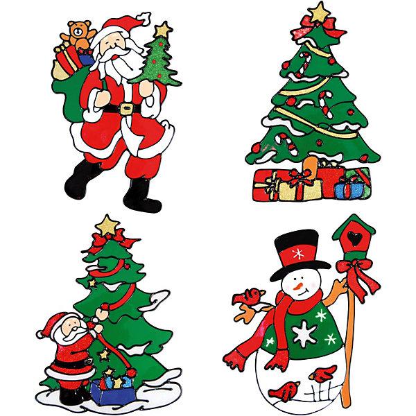 Декоративное украшение (наклейка на окно), 22,5 смНовогодние наклейки на окна<br>Декоративное украшение (наклейка на окно), Волшебная страна замечательно украсит Ваш интерьер и создаст праздничное новогоднее настроение. В ассортименте представлены 4 варианта дизайна наклеек: елочка, снеговик и 2 разных картинки с изображением Деда Мороза.<br><br>Дополнительная информация:<br><br>- Размер наклейки: 22,5 см.<br>- Вес: 42 гр. <br><br>Декоративное украшение (наклейку на окно), Волшебная страна можно купить в нашем интернет-магазине.<br><br>ВНИМАНИЕ! Данный артикул имеется в наличии в разных вариантах исполнения. Заранее выбрать определенный вариант нельзя. При заказе нескольких наклеек возможно получение одинаковых.<br>Ширина мм: 320; Глубина мм: 120; Высота мм: 200; Вес г: 42; Возраст от месяцев: 60; Возраст до месяцев: 180; Пол: Унисекс; Возраст: Детский; SKU: 3791448;