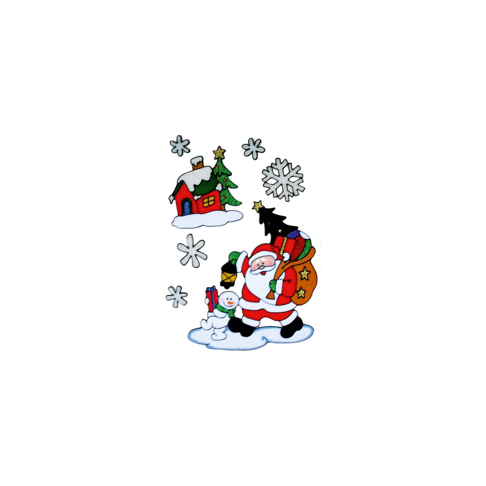 Декоративное украшение (наклейка на окно), 40 см, в ассортиментеВсё для праздника<br>Декоративное украшение (наклейка на окно), Волшебная страна замечательно украсит Ваш интерьер и создаст праздничное новогоднее настроение. В ассортименте представлены<br>3 варианта дизайна наклеек с новогодней тематикой.<br><br>Дополнительная информация:<br><br>- Размер наклейки: 40 см.<br>- Вес: 101 гр. <br><br>Декоративное украшение (наклейку на окно), Волшебная страна можно купить в нашем интернет-магазине.<br><br>ВНИМАНИЕ! Данный артикул имеется в наличии в разных вариантах исполнения. Заранее выбрать определенный вариант нельзя. При заказе нескольких наклеек возможно получение одинаковых.<br><br>Ширина мм: 350<br>Глубина мм: 120<br>Высота мм: 340<br>Вес г: 101<br>Возраст от месяцев: 60<br>Возраст до месяцев: 180<br>Пол: Унисекс<br>Возраст: Детский<br>SKU: 3791451