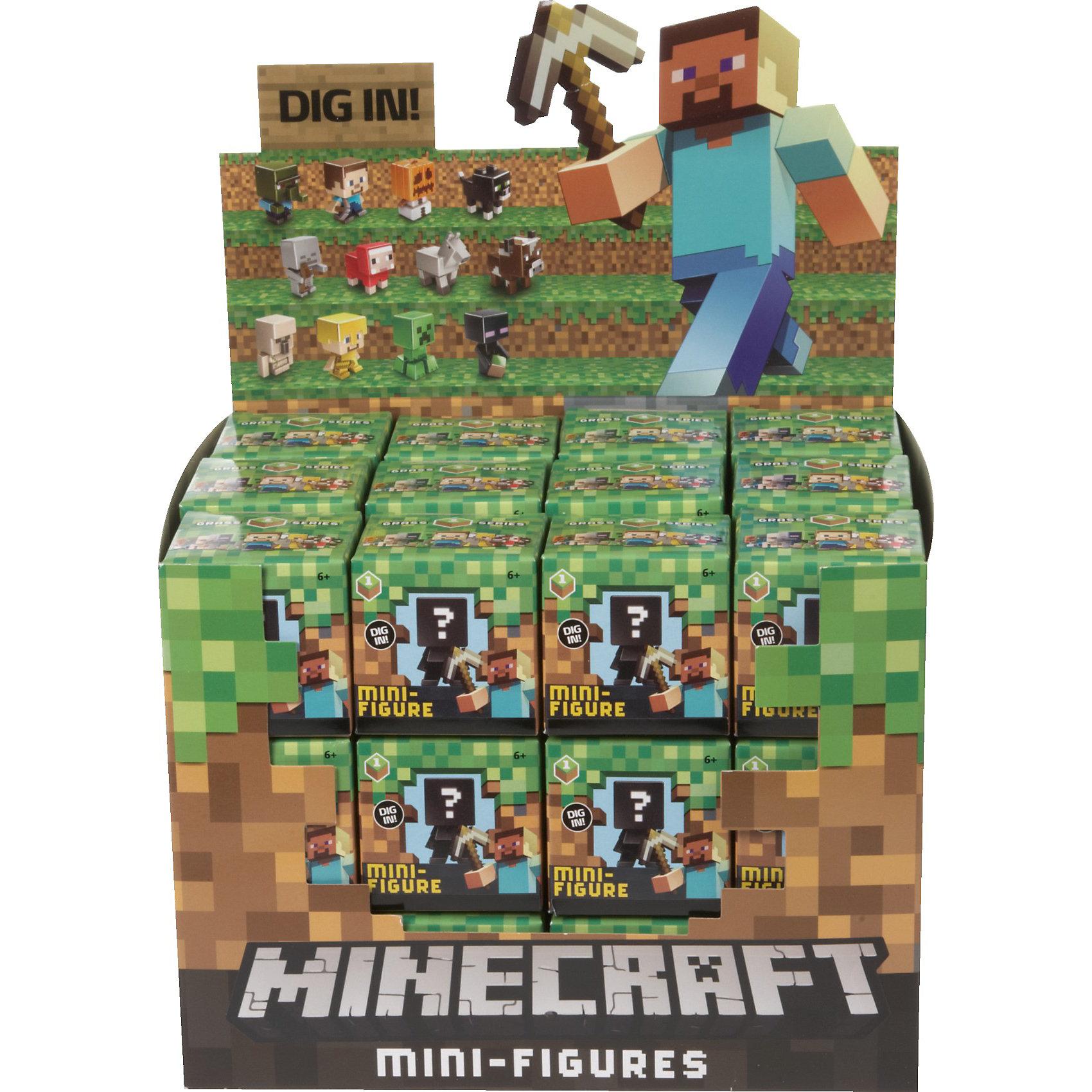 Фигурка  Minecraft, в ассортиментеВсе поклонники известной игры придут в восторг от такого набора. Игрушки прекрасно детализированы, очень похожи на персонажей Майнкрафт. Сделанные в 8-битном стиле, как и игра, эти фигурки позволят вашим детям играть с их любимыми персонажами где угодно!  Какая именно фигурка тебе попадется - сюрприз. Ты узнаешь от этом открыв коробку. Собери все фигурки и преврати игру в реальность!<br><br>Дополнительная информация:<br><br>- Материал: пластик.<br>- Конечности, голова фигурок подвижные.<br>- Размер упаковки: 5х5х5 см. <br>- Фигурка в ассортименте.<br>ВНИМАНИЕ! Данный артикул представлен в разных вариантах исполнения. К сожалению, заранее выбрать определенный вариант невозможно. При заказе нескольких фигурок возможно получение одинаковых.<br><br>Фигурка  Minecraft (Майнкрафт), в ассортименте, можно купить в нашем магазине.<br><br>Ширина мм: 53<br>Глубина мм: 55<br>Высота мм: 53<br>Вес г: 14<br>Возраст от месяцев: 36<br>Возраст до месяцев: 96<br>Пол: Мужской<br>Возраст: Детский<br>SKU: 3792883