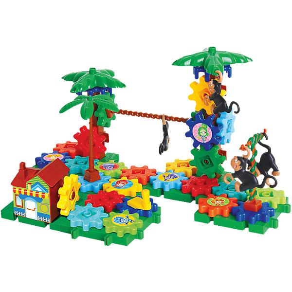 Конструктор Джунгли, ФиксикиПластмассовые конструкторы<br>Игровой набор для конструирования Джунгли предоставит возможность Вашему ребёнку собрать замечательную конструкцию в виде тропического леса. Выполнен конструктор из пластиковых деталей в виде шестеренок. Все детали довольно крупные и удобно размещаются в маленьких детских ручках. Внешний вид джунглей можно менять хоть каждый день. При нажатии на специальный рычажок детали-шестеренки начнут вращаться. Упаковка содержит интересную информацию о джунглях. Свободное конструирование - обучающий процесс, проходящий в форме творческой игры, которая учит малыша усидчивости, терпению, развивает пространственное мышление и мелкую моторику рук.<br><br>Дополнительная информация:<br><br>- Комплектация: 54 детали, наклейки с изображением фиксиков, подробная инструкция<br>- Работает от 3 батареек типа АА (в комплект не входят)<br>- Не содержит токсических элементов<br>- Материал: пластик<br>- Размеры упаковки: 36?27?8 см.<br>- Вес: 1100 гр.<br><br>Конструктор Джунгли, Фиксики можно купить в нашем интернет-магазине.<br><br>Ширина мм: 360<br>Глубина мм: 270<br>Высота мм: 80<br>Вес г: 1100<br>Возраст от месяцев: 36<br>Возраст до месяцев: 72<br>Пол: Унисекс<br>Возраст: Детский<br>SKU: 3793851