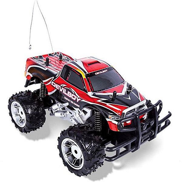 Джип Monster truck, на р/у, Mioshi TechРадиоуправляемые машины<br>Джип Monster truck, на радиоуправлении, Mioshi Tech  – отличный подарок для мальчика.<br>Радиоуправляемый Джип Monster truck – это спортивный вездеход с огромными колесами и независимой подвеской отличается особой маневренностью и готов преодолеть любые препятствия на своем пути. Кроме того, модель имеет съемный ударопрочный корпус из гибкого пластика, способный выдержать частые столкновения и падения, неизбежные во время проведения захватывающих гонок по пересеченной местности. Дистанционное управление джипом Monster Truck осуществляется с помощью современного пульта с удобным штурвалом. Дополнительно модель оснащена системой выравнивания положения передних колес.<br><br>Дополнительная информация:<br><br>- В комплекте: автомобиль, аккумулятор, зарядное устройство, пульт, инструкция<br>- Радиоуправляемая модель, полукопия автомобиля в масштабе 1:14 с задним приводом<br>- Частота: 27 мГц.<br>- Материал: пластиковая рама, металлические детали<br>- Движение: вперед/назад, вправо/влево<br>- Колесная база: 164 мм.<br>- Клиренс: 18 мм.<br>- Тип двигателя: электрический<br>- Пульт ДУ: удобный двухканальный пульт пистолетного типа<br>- Скорость: 15 км/ч<br>- Управление: автомобиль управляется по двум каналам, вперед-назад и влево вправо при помощи сервомеханизма<br>- Питание устройства: 1xАккумулятор с зарядкой от электросети (Ni-cd аккумулятор и зарядное устройство в комплекте)<br>- Питание ПДУ: 2xAA (приобретаются отдельно)<br>- Напряжение питания: 7.2 В<br>- Емкость аккумулятора:500 мА•ч<br>- Съемный ударопрочный корпус, внедорожные шины<br>- Размер машинки: 197 x175 x310 мм.<br>- Размеры упаковки: 40.96 x 20.58 x 22.7 см.<br>- Вес: 1.466 кг.<br><br>Джип Monster truck, на радиоуправлении, Mioshi Tech  можно купить в нашем интернет-магазине.<br>Ширина мм: 405; Глубина мм: 220; Высота мм: 205; Вес г: 1387; Возраст от месяцев: 72; Возраст до месяцев: 180; Пол: Мужской; Возраст: Детский; SKU: 3793859;