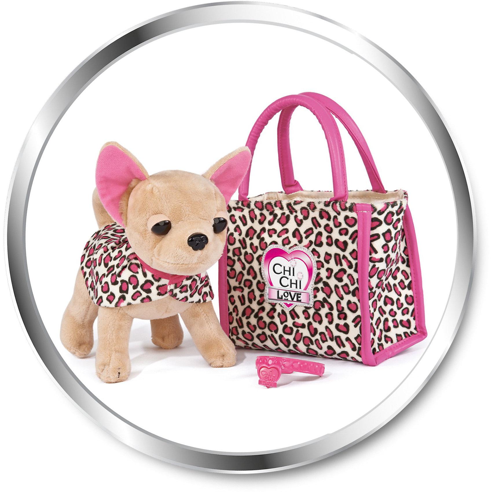 Simba Плюшевая собачка Чихуахуа Лео с сумочкой и ошейником, 20 см, Simba simba simba машинка hello kitty