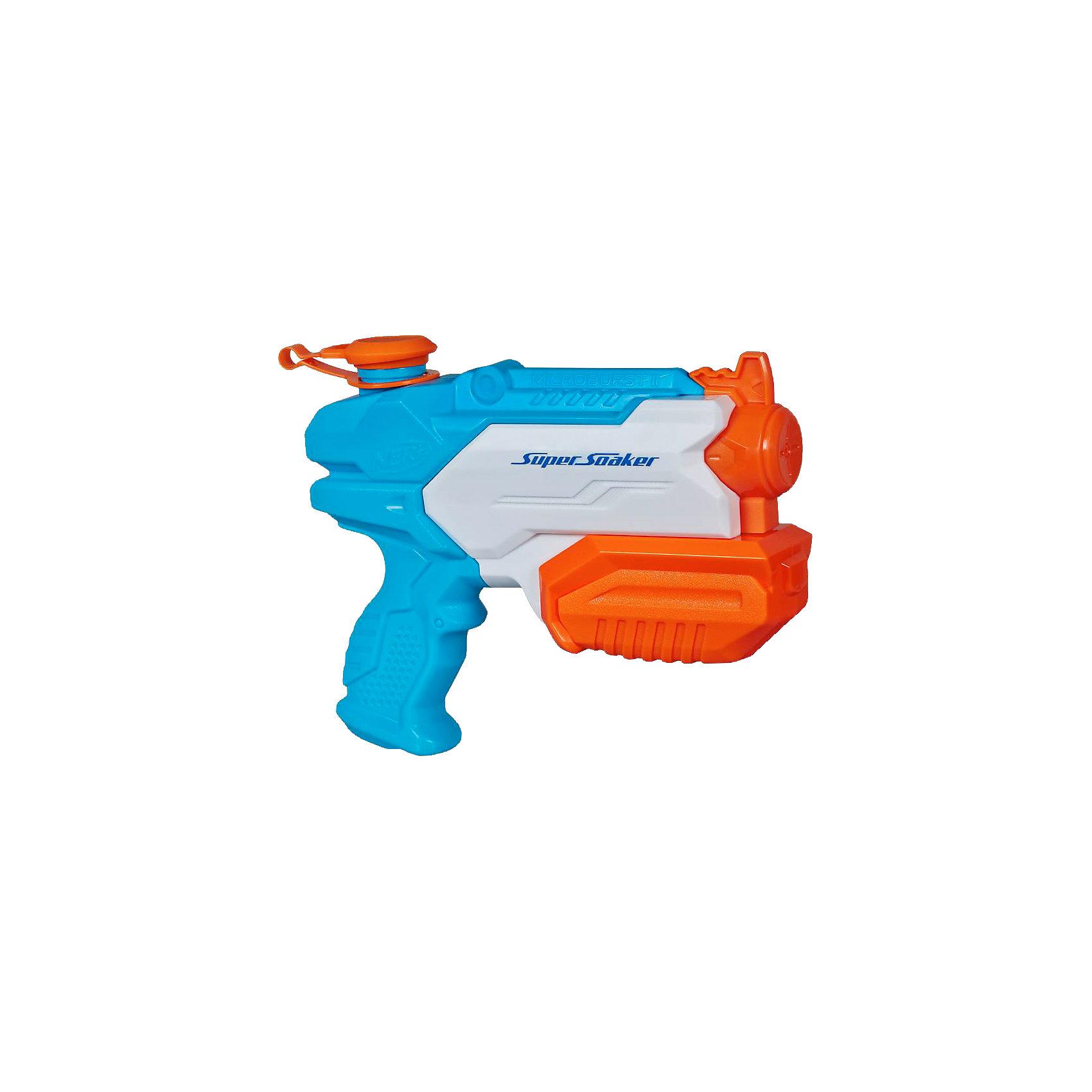 Водяной бластер Супер Соакер Микробёрст 2, NERFСюжетно-ролевые игры<br>Super Soaker Микробёрст 2, NERF- это водяной пистолет для настоящих бойцов с излишней жарой и духотой - достаточно набрать воды в объемный резервуар (295 мл) и передернуть помпу. Подобное занятие придется по душе и малышам, и взрослым, ведь это действительно здорово! Бластер станет отличным решением для активного и позитивного времяпрепровождения, не даст заскучать и даже позволит развить такие положительные навыки, как сноровка, координация, ловкость и внимательность. <br><br>Дополнительная информация:<br><br>Объем резервуара: 295 мл<br>Дальность стрельбы: 10 м<br>Размер упаковки: 21,6 х 22 х 6 см<br>Материал: пластик<br><br>Водяной бластер Супер Соакер Микробёрст 2, NERF (Нерф) можно купить в нашем магазине.<br><br>Ширина мм: 221<br>Глубина мм: 215<br>Высота мм: 63<br>Вес г: 290<br>Возраст от месяцев: 72<br>Возраст до месяцев: 120<br>Пол: Мужской<br>Возраст: Детский<br>SKU: 3795562