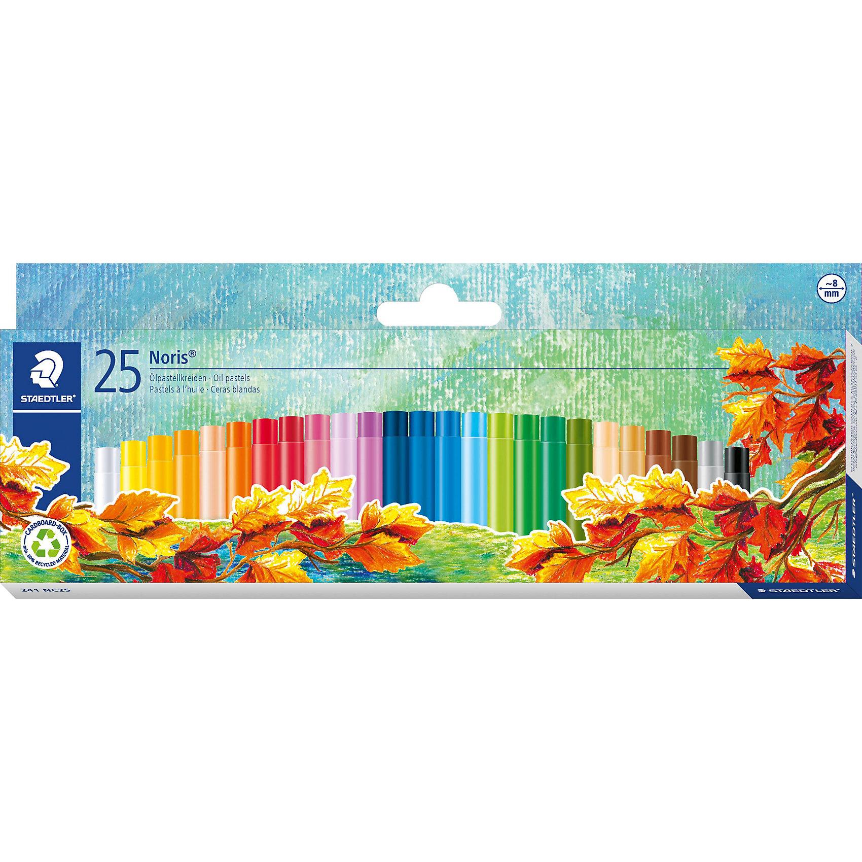 Масляная пастель NorisClub, 24 цв.Рисование<br>Пастель масляная Noris Club, набор 25 цветов. Картонная упаковка. Подходит для рисования, перекрытия цвета и техники процарапывания. Держится на всех гладких поверхностях. Высокая устойчивость к поломке. Бумажная манжетка с полем для имени. Яркие цвета.<br><br>Ширина мм: 256<br>Глубина мм: 101<br>Высота мм: 20<br>Вес г: 168<br>Возраст от месяцев: 60<br>Возраст до месяцев: 120<br>Пол: Унисекс<br>Возраст: Детский<br>SKU: 3797327