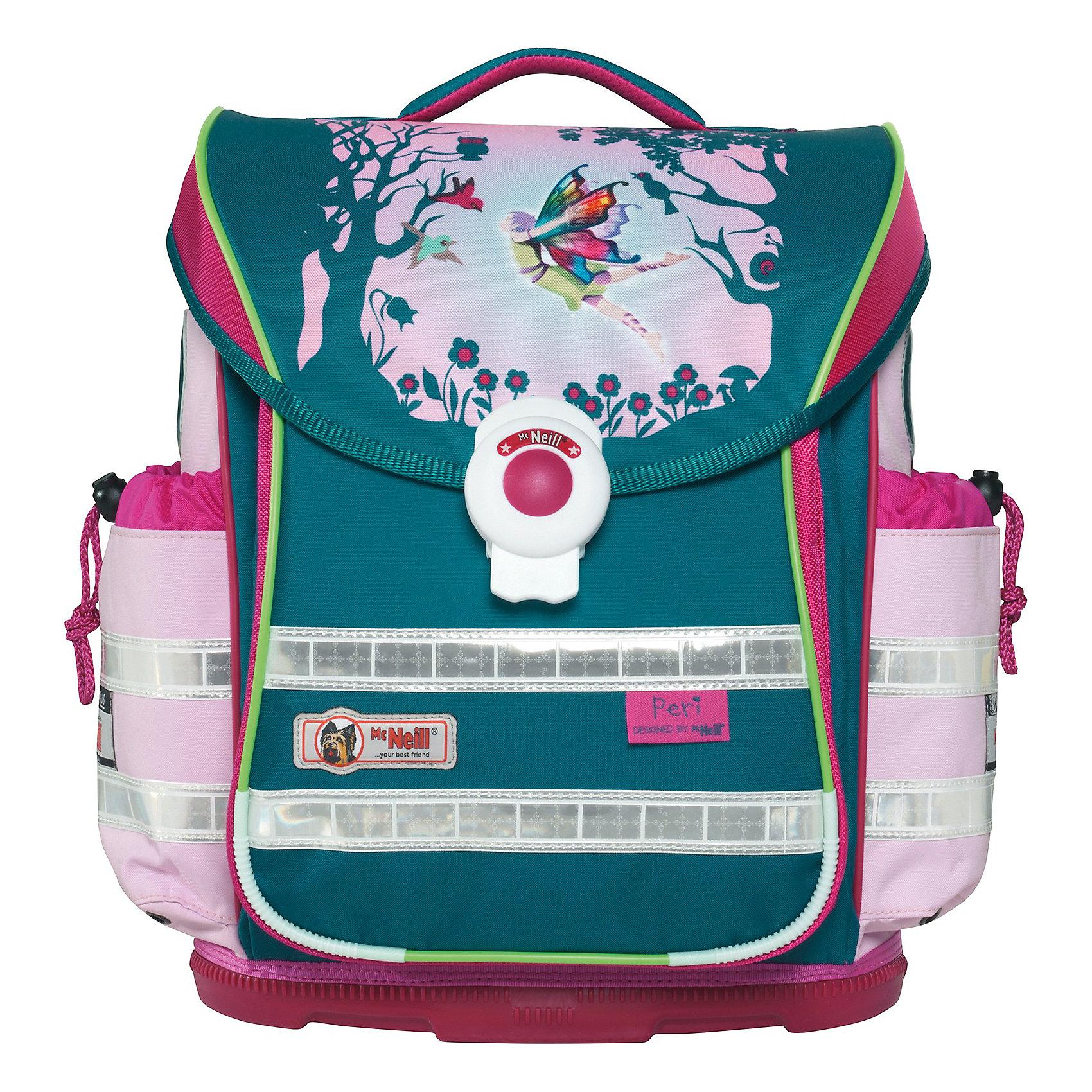 MC Neill Школьный рюкзак ERGO Light Плюс ПериРанцы<br>Вместимость 20 л,  вес ранца 1050 гр, удобный магнитный замок, боковые  карманы на кулиске регулируются ограничителями, дно из особо прочного пластика, ортопедическая спина, регулируемые ремни на мягких подушках.  В наборе два пенала, сумка для обуви и спорта, бутылочка для напитков, ланч - бокс. 30*41*20 см<br><br>Ширина мм: 419<br>Глубина мм: 368<br>Высота мм: 256<br>Вес г: 1870<br>Возраст от месяцев: 60<br>Возраст до месяцев: 120<br>Пол: Женский<br>Возраст: Детский<br>SKU: 3798555