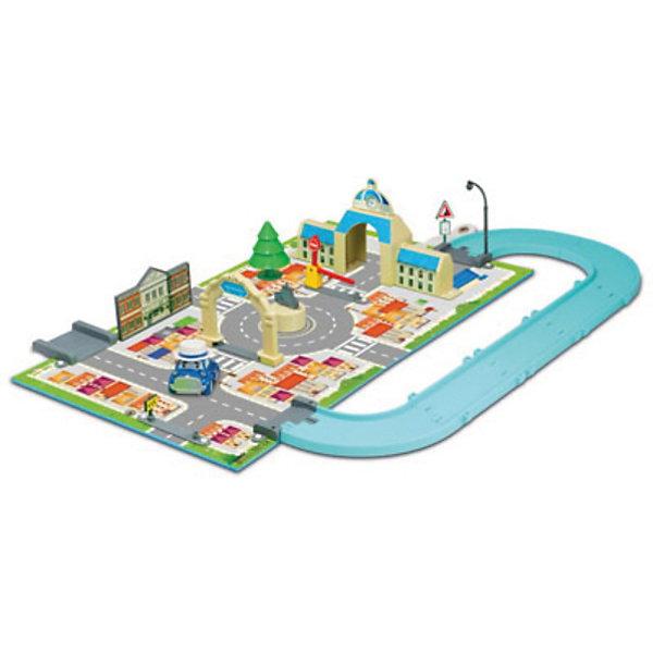 Игровой набор Мэрия, Робокар ПолиИгрушки<br>Игровой набор Мэрия, Робокар Поли – это восхитительная игрушка по мотивам популярного мультсериала «Робокар Поли и его друзья»  (Robocar Poli).<br>Замечательный игровой набор Мэрия Робокар Поли - представляет собой игровое поле с детально нарисованными дорогами, переходами и городскими пейзажами городка Брумстаун из популярного мультсериала «Робокар Поли и его друзья». На участке игрушечного города есть детально проработанное здание городской мэрии, фонарь, шлагбаум, ёлка, дорожные знаки, ворота и многие другие элементы для увлекательной игры. В комплекте - металлическая машинка ретро Мусти. В удивительном городе Брумстаун каждый день что-то происходит. О нём можно посмотреть мультфильм, но, конечно, гораздо интересней создавать события своими руками. Со временем свой город Брумстаун малыш сможет населить и другими жителями – автомобильчиками, героями мультсериала. <br>Вместе с ребенком Вы сможете также расширить город - покупая другие игровые наборы Робокар Поли. Все они легко стыкуются друг с другом, и получается полноценный многофункциональный город с различными возможностями для сюжетных игр Вашего ребенка. <br>Игры с набором благотворно скажутся на развитии мышления, логики, фантазии, концентрации внимания, мелкой моторики и точности движений. Игрушка изготовлена из высококачественных, безопасных и экологически чистых материалов, использованные красители не токсичны и гипоаллергенны.<br><br>Дополнительная информация:<br><br>- В комплекте: металлическая машинка ретро Мусти<br>- Размер машинки: 6 см.<br>- Материал: пластик<br>- Игровое поле сделано из качественного плотного материала, который не гнётся, не мнётся и не рвётся<br>- Размеры игрового поля: 50х30 см.<br>- Набор легко взять с собой, он собирается в виде небольшого чемоданчика<br>- Размер упаковки: 400х260х60 мм.<br>- Вес: 752 гр.<br><br>Игровой набор Мэрия, Робокар Поли можно купить в нашем интернет-магазине.<br><br>Ширина мм: 400<br>Глубина мм: 260<br>Высота