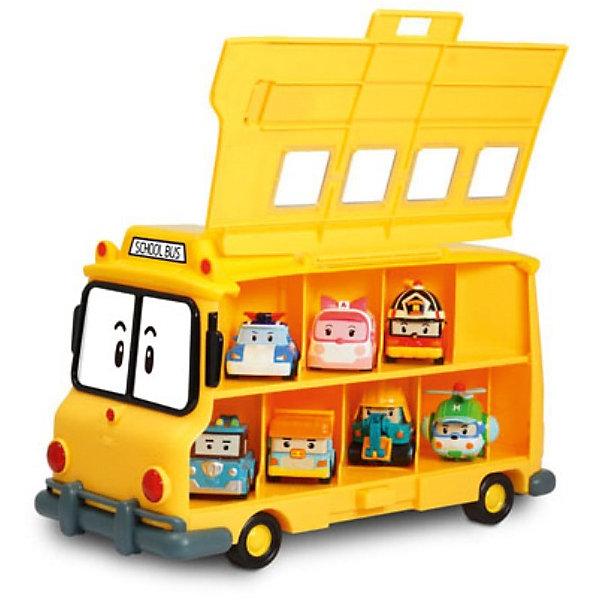 Кейс для хранения машинок Скулби, Робокар ПолиИдеи подарков<br>Кейс для хранения машинок Скулби, Робокар Поли – это восхитительная игрушка по мотивам популярного мультсериала «Робокар Поли и его друзья»  (Robocar Poli).<br>Кейс для хранения машинок Скулби решает вопрос с хранением сразу 14 машинок, героев полюбившегося мультсериала Робокар Поли. Кейс внешне как две капли воды похож на школьный автобус Скулби. Но его боковые стенки поднимаются и открывают доступ к секциям для хранения металлических машинок Робокар Поли. Машинки хранятся в высоту в два ряда. Верхний ряд машинок выглядывает из окошек, они видны при закрытых стенках кейса. Игрушка изготовлена из высококачественных, безопасных и экологически чистых материалов.<br><br>Дополнительная информация:<br><br>- Вместимость: 14 машинок размером 6 см.<br>- Машинки в комплект не входят, приобретаются отдельно<br>- Материал: пластик<br>- Размер упаковки: 320х200х150 мм.<br><br>Кейс для хранения машинок Скулби, Робокар Поли можно купить в нашем интернет-магазине.<br><br>Ширина мм: 320<br>Глубина мм: 200<br>Высота мм: 150<br>Вес г: 1160<br>Возраст от месяцев: 36<br>Возраст до месяцев: 84<br>Пол: Мужской<br>Возраст: Детский<br>SKU: 3801215