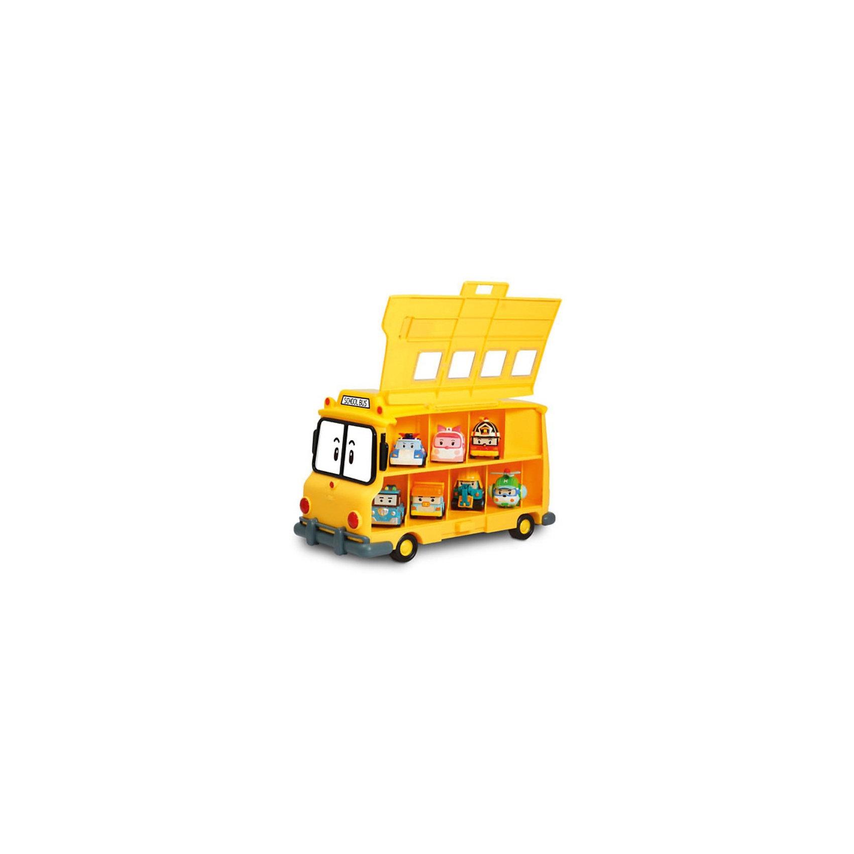 Кейс для хранения машинок Скулби, Робокар ПолиКейс для хранения машинок Скулби, Робокар Поли – это восхитительная игрушка по мотивам популярного мультсериала «Робокар Поли и его друзья»  (Robocar Poli).<br>Кейс для хранения машинок Скулби решает вопрос с хранением сразу 14 машинок, героев полюбившегося мультсериала Робокар Поли. Кейс внешне как две капли воды похож на школьный автобус Скулби. Но его боковые стенки поднимаются и открывают доступ к секциям для хранения металлических машинок Робокар Поли. Машинки хранятся в высоту в два ряда. Верхний ряд машинок выглядывает из окошек, они видны при закрытых стенках кейса. Игрушка изготовлена из высококачественных, безопасных и экологически чистых материалов.<br><br>Дополнительная информация:<br><br>- Вместимость: 14 машинок размером 6 см.<br>- Машинки в комплект не входят, приобретаются отдельно<br>- Материал: пластик<br>- Размер упаковки: 320х200х150 мм.<br><br>Кейс для хранения машинок Скулби, Робокар Поли можно купить в нашем интернет-магазине.<br><br>Ширина мм: 320<br>Глубина мм: 200<br>Высота мм: 150<br>Вес г: 1160<br>Возраст от месяцев: 36<br>Возраст до месяцев: 84<br>Пол: Мужской<br>Возраст: Детский<br>SKU: 3801215
