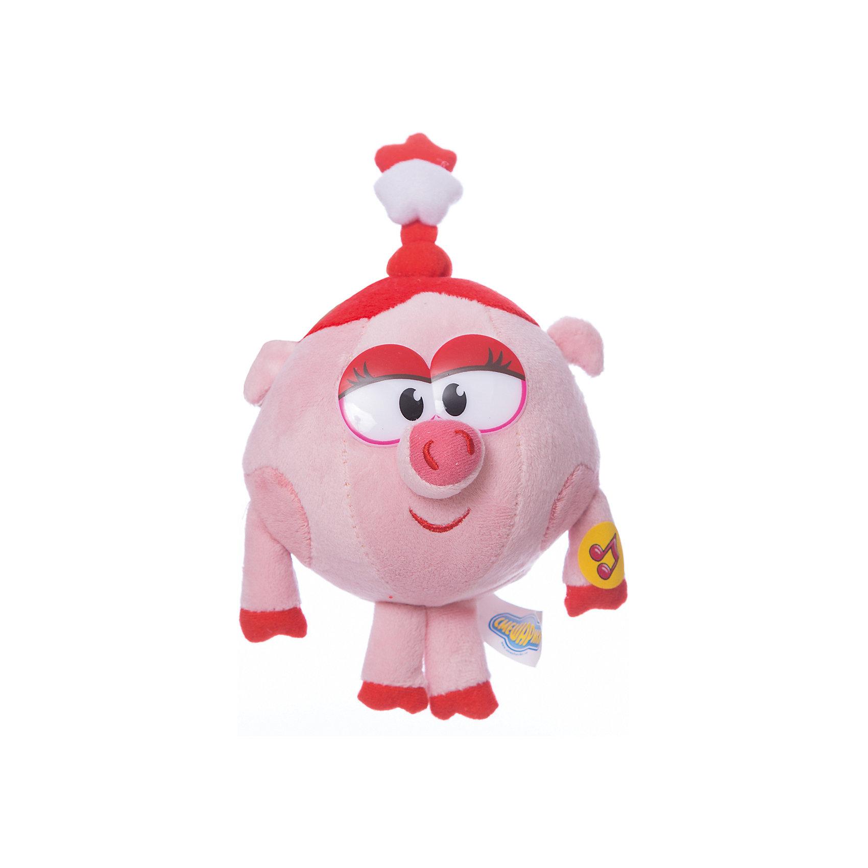 Нюша, 10 см, со звуком, Смешарики, МУЛЬТИ-ПУЛЬТИНюша, 10 см, со звуком, Смешарики, МУЛЬТИ-ПУЛЬТИ – это игрушка-приятель персонаж популярного российского мультфильма.<br>Мягкая игрушка Нюша из мультфильма Смешарики, станет незаменимым другом вашего малыша. Ребенок никогда не соскучится, потому что Нюша умеет произносить веселые фразы. Модница Нюша очень нарядная, а на головке у нее одета забавная косичка с бантиком. Игрушка выполнена из мягкого плюшевого материала.<br><br>Дополнительная информация:<br><br>- Размер: 10 см.<br>- Материал: плюш, синтепон, текстиль<br>- Батарейки: 3 х LR44 (входят в комплект)<br><br>Мягкую игрушку Нюша, 10 см, со звуком, Смешарики, МУЛЬТИ-ПУЛЬТИ можно купить в нашем интернет-магазине.<br><br>Ширина мм: 100<br>Глубина мм: 100<br>Высота мм: 100<br>Вес г: 150<br>Возраст от месяцев: 36<br>Возраст до месяцев: 84<br>Пол: Женский<br>Возраст: Детский<br>SKU: 3802643