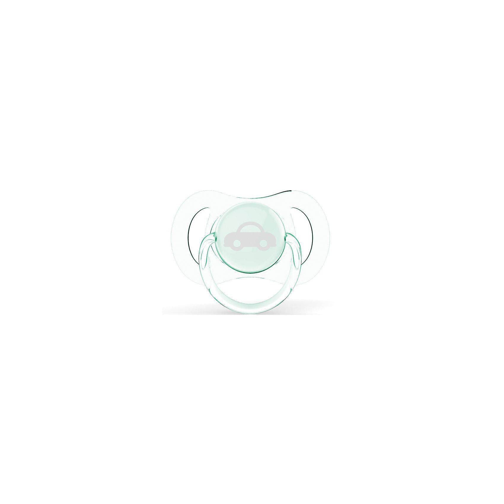 Силиконовая пустышка мини для мальчика, 0-2 мес., Avent, 2 шт, AVENT от myToys