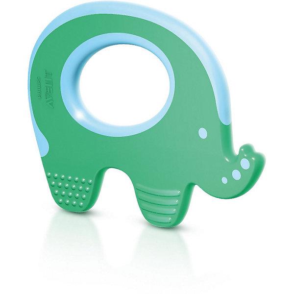 Прорезыватель для зубов, AVENTПустышки<br>Прорезыватель для зубов, Avent (Авент) в виде забавного слоника привлечет внимание малыша и поможет снять неприятные ощущения при прорезывании зубов. Прорезыватель идеально подойдет для малышей разного возраста, так как в нем учтены все стадии прорезывания зубов: передних, задних и боковых. У прорезывателя имеются 2 разных текстуры и 2 различных по мягкости материала. Игрушка очень удобна для маленьких ручек ребенка. Для большего комфорта прорезыватель можно охлаждать. <br><br>Дополнительная информация:<br><br>- Возраст: от 3 мес.<br>- Материал: полипропилен.<br>- Размер упаковки: 11 х 12,5 х 16 см.<br>- Вес: 53 гр.<br><br>Прорезыватель для зубов, Avent можно купить в нашем магазине.<br><br>Ширина мм: 11<br>Глубина мм: 125<br>Высота мм: 160<br>Вес г: 53<br>Возраст от месяцев: 3<br>Возраст до месяцев: 24<br>Пол: Унисекс<br>Возраст: Детский<br>SKU: 3803836