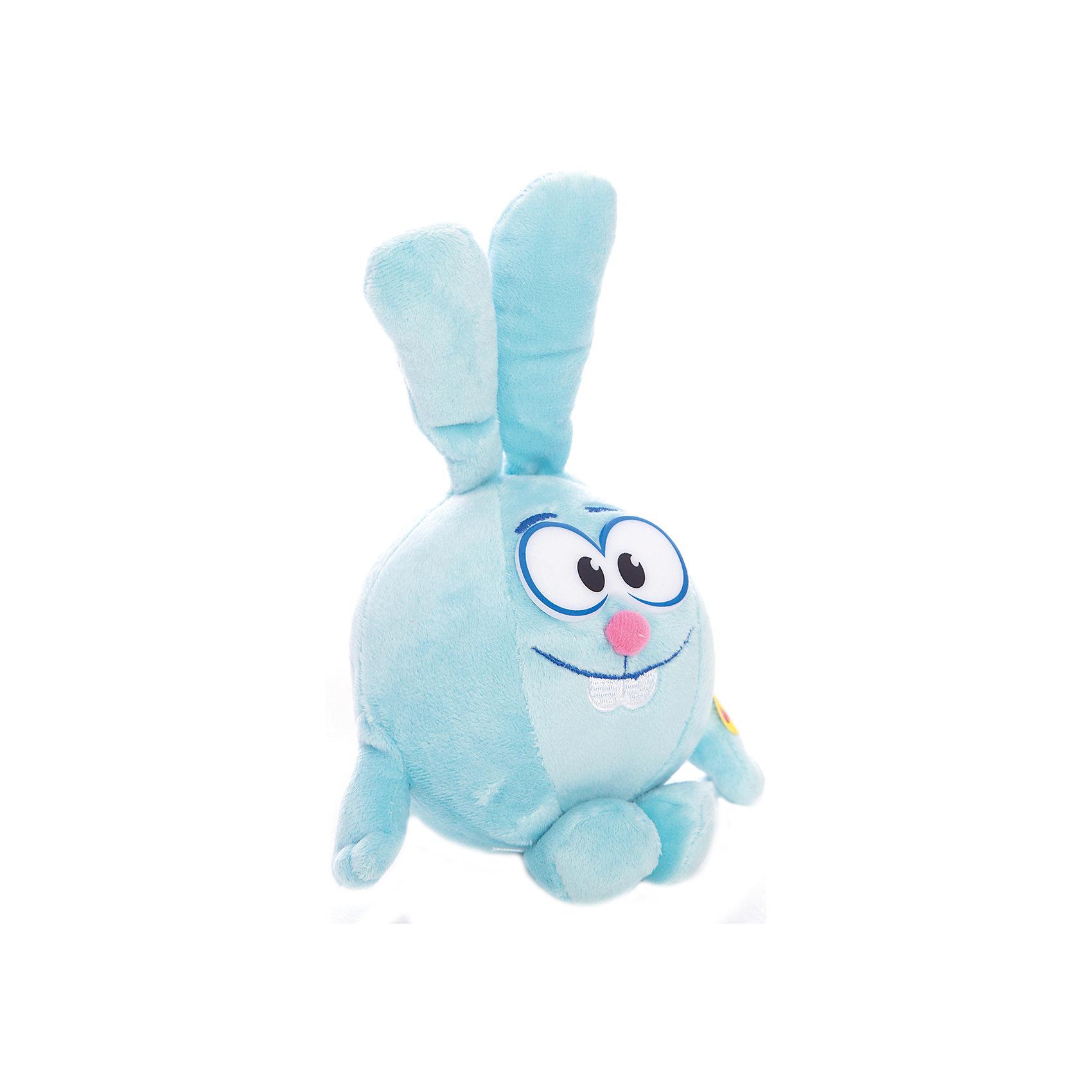Мягкая игрушка Крош, Смешарики, МУЛЬТИ-ПУЛЬТИЛюбимые герои<br>Мягкая игрушка Крош, Смешарики, МУЛЬТИ-ПУЛЬТИ – это игрушка-приятель персонаж популярного российского мультфильма.<br>Мягкая игрушка Крош из мультфильма Смешарики, станет незаменимым другом вашего малыша. Ребенок с ним никогда не соскучится, потому что Крош умеет произносить веселые фразы. Игрушка выполнена из мягкого плюшевого материала.<br><br>Дополнительная информация:<br><br>- Размер игрушки: 10 см.<br>- Материал: плюш, синтепон, текстиль<br>- Батарейки: 3 х LR44 (входят в комплект)<br><br>Мягкую игрушку Крош, Смешарики, МУЛЬТИ-ПУЛЬТИ можно купить в нашем интернет-магазине.<br><br>Ширина мм: 100<br>Глубина мм: 100<br>Высота мм: 100<br>Вес г: 150<br>Возраст от месяцев: 12<br>Возраст до месяцев: 60<br>Пол: Унисекс<br>Возраст: Детский<br>SKU: 3804873