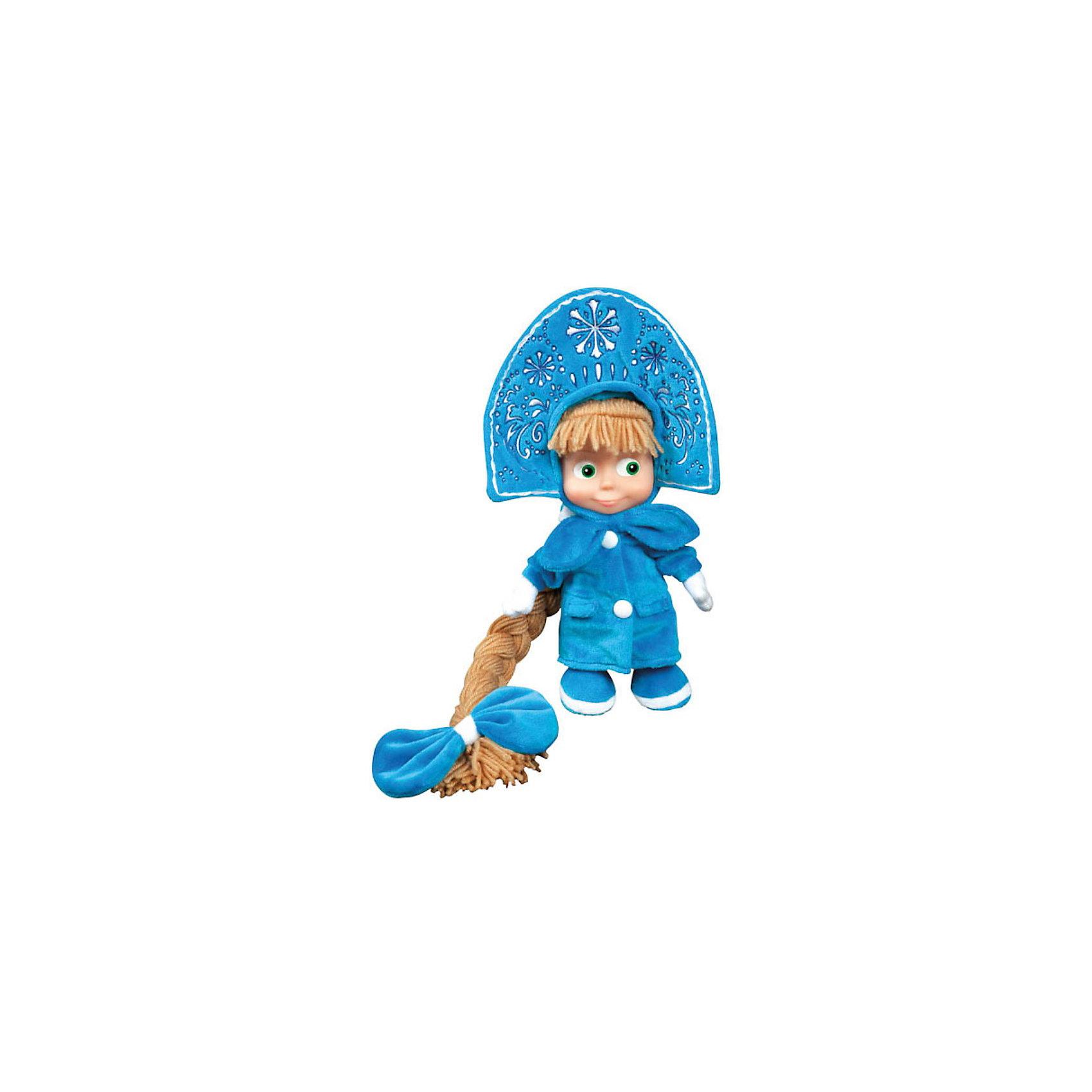 Мягкая игрушка Маша-Снегурочка, Маша и медведь, МУЛЬТИ-ПУЛЬТИЛюбимые герои<br>Мягкая игрушка Маша-Снегурочка, Маша и медведь, МУЛЬТИ-ПУЛЬТИ – это прекрасным подарок на любой другой праздник.<br>Забавная Маша из мультфильма Маша и Медведь в образе Снегурочки. На Маше надета голубая шубка, варежки в тон и шикарная корона. Завершает новогодний образ Снегурочки длинная коса. Маша с радостью споет песенку (голосом персонажа) и произнесет несколько фраз из известного и любимого многими детьми мультфильма. У игрушки пластиковое лицо. Игрушка Маша-Снегурочка изготовлена из высококачественных экологически-чистых материалов и соответствует европейским и мировым стандартам качества.<br><br>Дополнительная информация:<br><br>- Высота игрушки: 30 см.<br>- Материал: искусственный мех, полиэстер, элементы пластмассы<br>- Батарейки: 3 типа LR44 (в комплекте)<br><br>Мягкую игрушку Маша-Снегурочка, Маша и медведь, МУЛЬТИ-ПУЛЬТИ можно купить в нашем интернет-магазине.<br><br>Ширина мм: 190<br>Глубина мм: 320<br>Высота мм: 90<br>Вес г: 290<br>Возраст от месяцев: 12<br>Возраст до месяцев: 60<br>Пол: Унисекс<br>Возраст: Детский<br>SKU: 3804874
