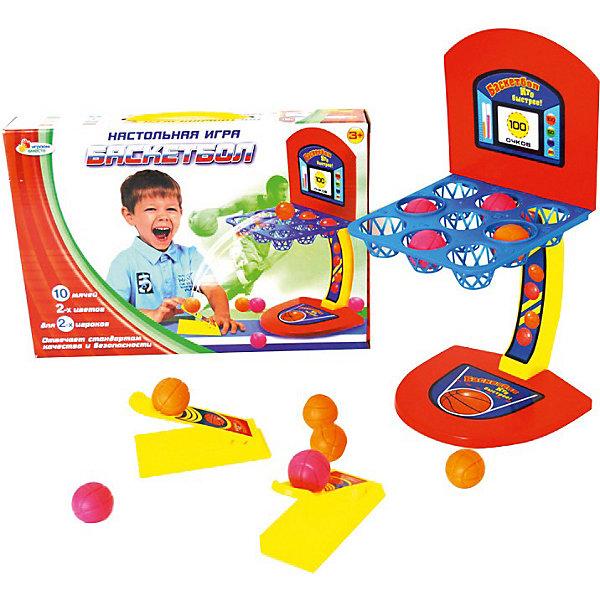 Настольная игра Баскетбол, Играем вместеНастольные игры для всей семьи<br>Настольная игра Баскетбол, Играем вместе – это веселая игра, не даст скучать вашим детям, и позволит весело провести время!<br>Настольная игра Баскетбол своеобразный тренажер для развития мелкой моторики рук, координации движений, глазомера. Эта игра замечательная находка для детей и родителей. Ребенок очень быстро освоит эту захватывающую и зрелищную настольную игру! Игра может использоваться как в домашних условиях, так и в детских учреждениях. Это динамичная игра, способная разнообразить досуг вашего ребенка. Игрушка отвечает стандартам качества и безопасности.<br><br>Дополнительная информация:<br><br>- В наборе: установка для настольной игры «Баскетбол»; приспособление для метания мячей – 2 шт.; мячи двух цветов — 10 шт.<br>- Количество игроков: от 1 до 2 человек<br>- Материал: пластмасса<br>- Размер упаковки: 33х23х5,5 см.<br><br>Настольную игру Баскетбол, Играем вместе купить в нашем интернет-магазине.<br>Ширина мм: 230; Глубина мм: 340; Высота мм: 60; Вес г: 450; Возраст от месяцев: 36; Возраст до месяцев: 60; Пол: Мужской; Возраст: Детский; SKU: 3804884;