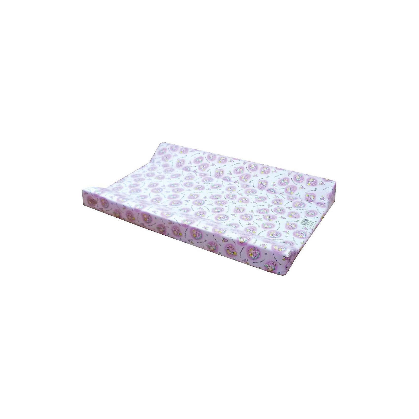 Доска для пеленания Параллель Классика, Фея, в ассортиментеВсе для пеленания<br>Доска для пеленания Параллель Классика, Фея - прекрасная альтернатива громоздким пеленальным столикам! Она легко крепится к кроватке или ставится на любую горизонтальную поверхность благодаря жесткой основе. Ребенку будет очень комфортно принимать воздушные ванны или гигиенические процедуры на этой доске, ведь поверхность выполнена из приятного материала, а под ним располагается подложка из поролона, обеспечивающего мягкость без вреда для позвоночника. Для удобства мамы по бокам матрасика расположены высокие бортики, которые обеспечат безопасность. Верхний слой матрасика выполнен из мягкого непромокаемого материала, приятного для тела, прочного, не рвущегося по стыкам и оформлен забавными рисунками, отпечатанными не токсичной краской. <br><br>Дополнительная информация:<br><br>- Подходит для детей с рождения до 6 месяцев (примерно от 3 до 7 кг);<br>- Подходит практически ко всем кроваткам и манежам;<br>- При нанесении рисунка использованы только нетоксичные красители;<br>- Высокая степень устойчивости к влаге и загрязнениям; <br>- Не выцветает;<br>- Оборудована 2 высокими бортиками;<br>- Поверхность виниллайт (хлопчатобумажная ткань с водонепроницаемой пропиткой);<br>- Основание ДСП (древесно стружечная плита) толщиной 6 мм, не подвергающееся деформациям и сгибам;<br>- Наполнитель ППУ (пенополиуретан);<br>- Размер: 90 х 50 х 7,5 см;<br>- Вес: 2,9 кг<br><br>Внимание! Данный артикул имеется в наличии в разных цветовых исполнениях. К сожалению, заранее выбрать определенный цвет невозможно.<br><br>Доска для пеленания Параллель Классика, Фея можно купить в нашем интернет-магазине.<br><br>Ширина мм: 100<br>Глубина мм: 790<br>Высота мм: 480<br>Вес г: 2360<br>Возраст от месяцев: 0<br>Возраст до месяцев: 24<br>Пол: Унисекс<br>Возраст: Детский<br>SKU: 3805269