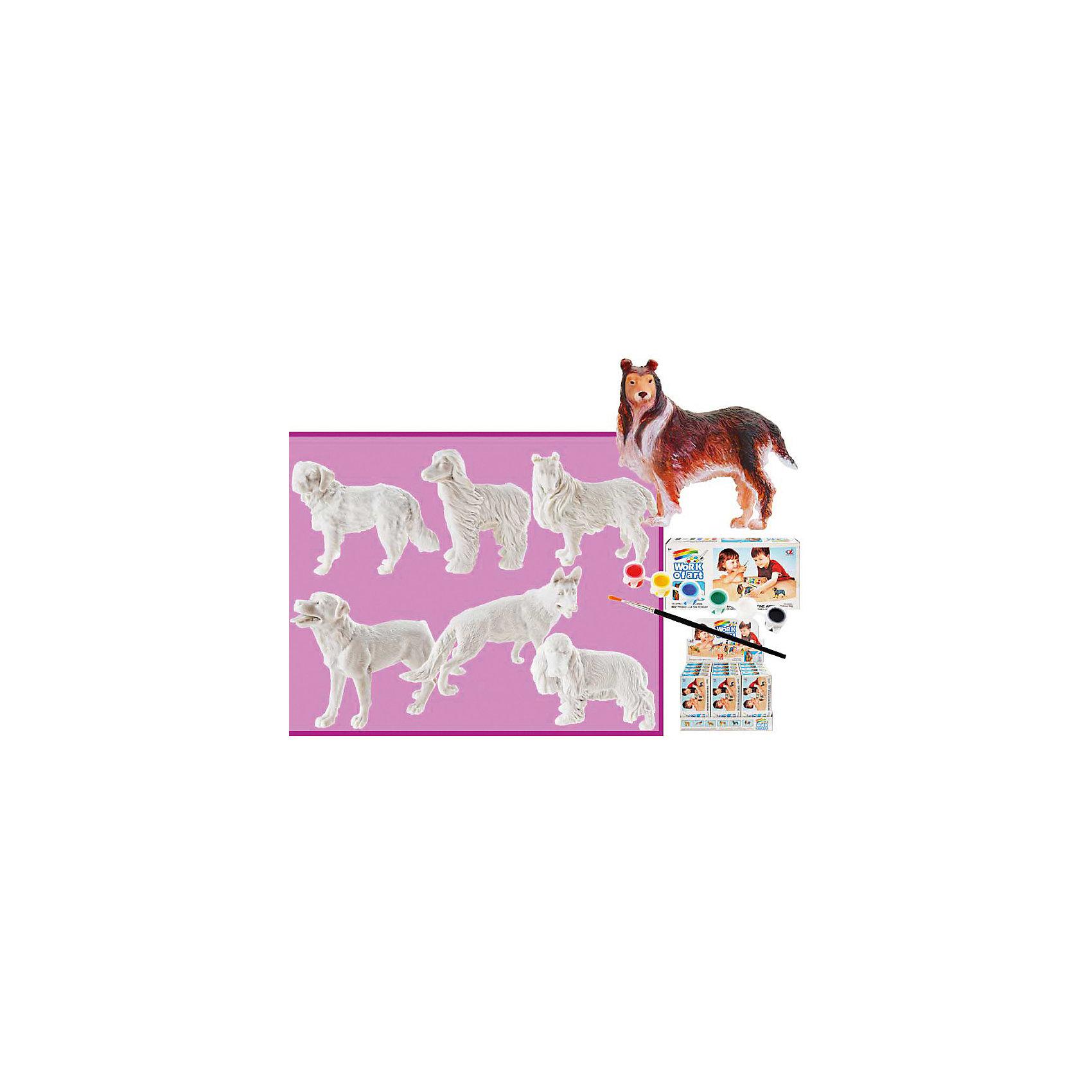 Набор для раскрашивания Две собаки (2 игрушки, кисть, краски), в ассортиментеДве собаки, Тукзар - оригинальный набор для детского творчества. Прекрасный подарок для любого ребенка.<br><br>Дополнительная информация:<br><br>- Комплектация: 2 игрушки, кисточка, краски, картонный дисплей, 6   форм в ассортименте<br>- Материал: пластик, <br>- Размер упаковки: 9,5*18*4,4 см<br><br>ВНИМАНИЕ! Данный артикул представлен в разных вариантах исполнения. К сожалению, заранее выбрать определенный вариант невозможно. При заказе нескольких наборов возможно получение одинаковых.<br><br>Набор для раскрашивания Две собаки, Тукзар можно купить в нашем магазине.<br><br>Ширина мм: 95<br>Глубина мм: 180<br>Высота мм: 44<br>Вес г: 146<br>Возраст от месяцев: 36<br>Возраст до месяцев: 216<br>Пол: Унисекс<br>Возраст: Детский<br>SKU: 3807516