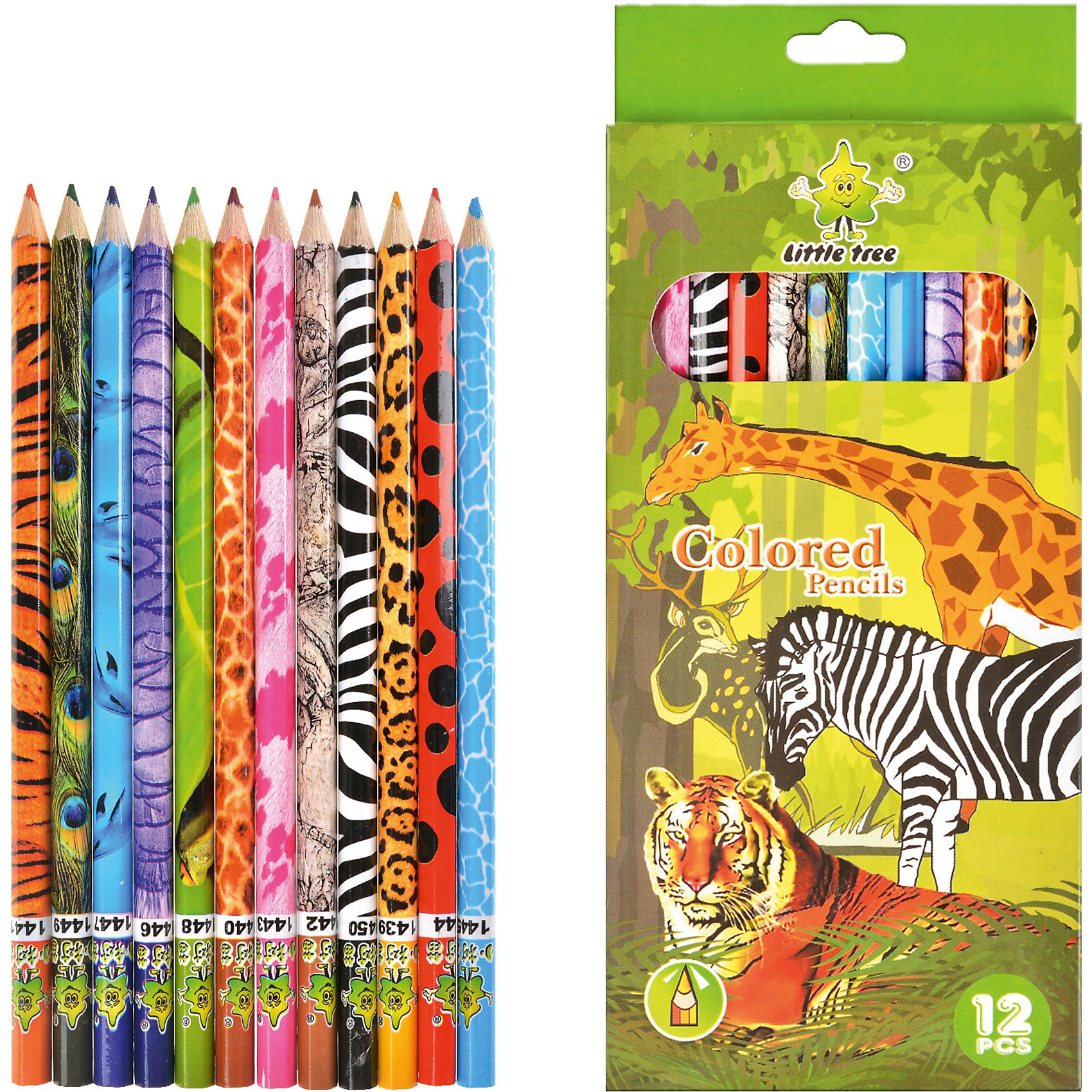 Цветные карандаши (12 цветов), Little TreeЦветные карандаши Little Tree - прекрасный вариант для детского творчества. Карандаши в деревянном корпусе легко затачиваются. Высококачественный прочный грифель не ломается при заточке.<br><br>Дополнительная информация:<br>- 12 цветов<br>- Материал корпуса: дерево<br>- Размер упаковки: 8.8 х 18 х 0.6 см<br><br>Цветные карандаши (12 цветов), Little Tree можно купить в нашем магазине.<br><br>Ширина мм: 180<br>Глубина мм: 88<br>Высота мм: 6<br>Вес г: 200<br>Возраст от месяцев: 36<br>Возраст до месяцев: 216<br>Пол: Унисекс<br>Возраст: Детский<br>SKU: 3807529