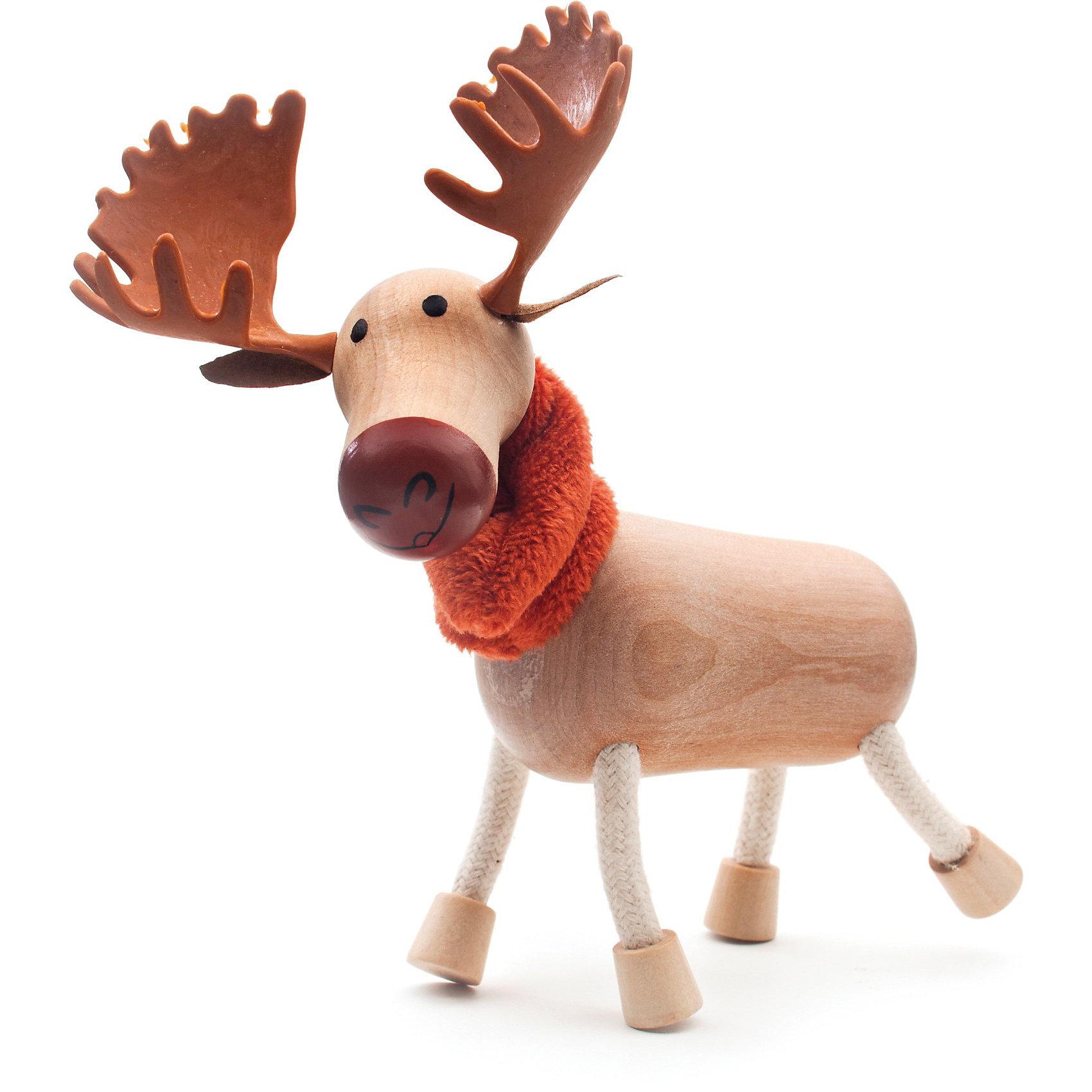 Лось, AnaMalzAnaMalz – самые милые деревянные игрушки на свете!<br><br>Придуманные австралийским дизайнером Луизой Косан-Скотт,<br>игрушки AnaMalz завоевали более 15 отраслевых наград, включая Австралийскую международную награду в области дизайна, присуждаемую организацией Standards Australia.<br><br>- Размеры: 14 х 8 х 12 см<br><br>- AnaMalz изготовлены из дерева, называемого schima superba или «игольчатое дерево» (быстрорастущее дерево, выращиваемое на лесных плантациях)<br><br>- Рога изготовлены из термопластичной резины (TPR) – материала, одобренного Управлением по контролю качества пищевых продуктов и медикаментов (FDA). Смесь TPR с древесной мукой является экологичной альтернативой пластмассе<br><br>- Все игрушки AnaMalz раскрашиваются вручную с использованием безопасной для детей краски и клея без содержания формальдегида<br><br>- Древесные отходы от производства AnaMalz используются на ферме для выращивания грибов<br><br>AnaMalz завоевали популярность во всем мире. Они стали участниками телевизионных шоу TODAY, шоу Марты Стюарт, Daily Candy Kids и USA Today Weekend. <br><br>Наши маленькие деревянные друзья покорили сердца самых строгих критиков отрасли – и получили множество «игрушечных» наград!<br><br>Ширина мм: 140<br>Глубина мм: 80<br>Высота мм: 120<br>Вес г: 88<br>Возраст от месяцев: 36<br>Возраст до месяцев: 168<br>Пол: Унисекс<br>Возраст: Детский<br>SKU: 3807618