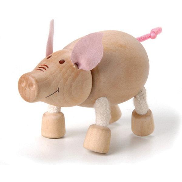 Хрюшка, AnaMalzДеревянные фигурки<br>AnaMalz – самые милые деревянные игрушки на свете!<br><br>Придуманные австралийским дизайнером Луизой Косан-Скотт,<br>игрушки AnaMalz завоевали более 15 отраслевых наград, включая Австралийскую международную награду в области дизайна, присуждаемую организацией Standards Australia.<br>- Игрушки AnaMalz предназначены для детей от 3 лет<br><br>- AnaMalz изготовлены из дерева, называемого schima superba или «игольчатое дерево» (быстрорастущее дерево, выращиваемое на лесных плантациях)<br><br>- Рога изготовлены из термопластичной резины (TPR) – материала, одобренного Управлением по контролю качества пищевых продуктов и медикаментов (FDA). Смесь TPR с древесной мукой является экологичной альтернативой пластмассе<br><br>- Все игрушки AnaMalz раскрашиваются вручную с использованием безопасной для детей краски и клея без содержания формальдегида<br><br>- Древесные отходы от производства AnaMalz используются на ферме для выращивания грибов<br><br>AnaMalz завоевали популярность во всем мире. Они стали участниками телевизионных шоу TODAY, шоу Марты Стюарт, Daily Candy Kids и USA Today Weekend. <br><br>Наши маленькие деревянные друзья покорили сердца самых строгих критиков отрасли – и получили множество «игрушечных» наград!<br>Ширина мм: 80; Глубина мм: 40; Высота мм: 60; Вес г: 46; Возраст от месяцев: 36; Возраст до месяцев: 168; Пол: Унисекс; Возраст: Детский; SKU: 3807619;