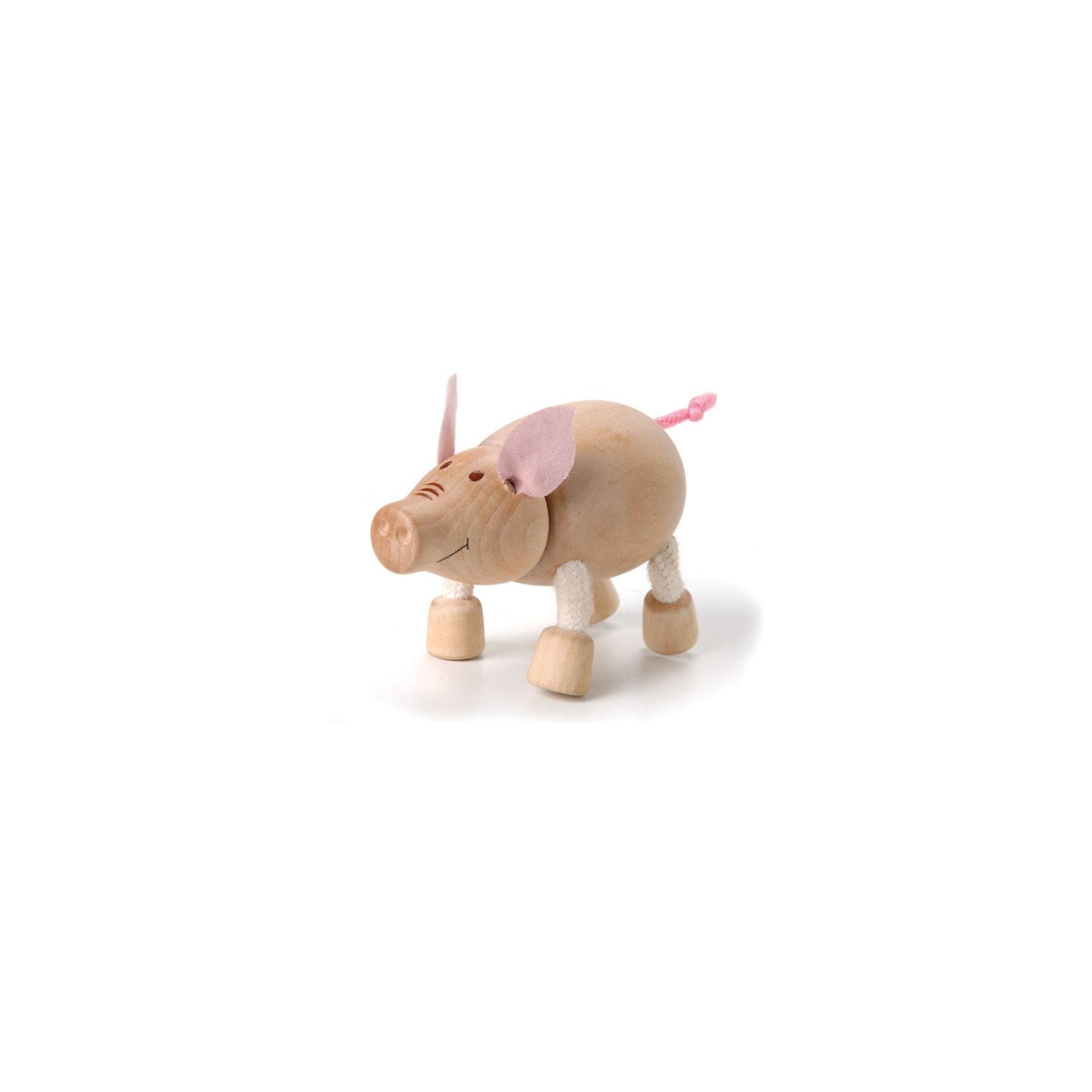 Хрюшка, AnaMalzМир животных<br>AnaMalz – самые милые деревянные игрушки на свете!<br><br>Придуманные австралийским дизайнером Луизой Косан-Скотт,<br>игрушки AnaMalz завоевали более 15 отраслевых наград, включая Австралийскую международную награду в области дизайна, присуждаемую организацией Standards Australia.<br>- Игрушки AnaMalz предназначены для детей от 3 лет<br><br>- AnaMalz изготовлены из дерева, называемого schima superba или «игольчатое дерево» (быстрорастущее дерево, выращиваемое на лесных плантациях)<br><br>- Рога изготовлены из термопластичной резины (TPR) – материала, одобренного Управлением по контролю качества пищевых продуктов и медикаментов (FDA). Смесь TPR с древесной мукой является экологичной альтернативой пластмассе<br><br>- Все игрушки AnaMalz раскрашиваются вручную с использованием безопасной для детей краски и клея без содержания формальдегида<br><br>- Древесные отходы от производства AnaMalz используются на ферме для выращивания грибов<br><br>AnaMalz завоевали популярность во всем мире. Они стали участниками телевизионных шоу TODAY, шоу Марты Стюарт, Daily Candy Kids и USA Today Weekend. <br><br>Наши маленькие деревянные друзья покорили сердца самых строгих критиков отрасли – и получили множество «игрушечных» наград!<br><br>Ширина мм: 80<br>Глубина мм: 40<br>Высота мм: 60<br>Вес г: 46<br>Возраст от месяцев: 36<br>Возраст до месяцев: 168<br>Пол: Унисекс<br>Возраст: Детский<br>SKU: 3807619
