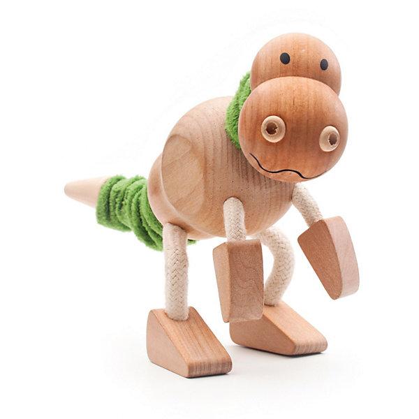 Рэкс, AnaMalzИгровые фигурки животных<br>Характеристики товара:<br><br>• возраст: от 3 лет;<br>• размер игрушки:20х5х16 см;<br>• материал: дерево, текстиль;<br>• размер упаковки: 10х6х16см;<br>• страна бренда: Австралия.<br><br>Рэкс - деревянный динозавр от бренда AnaMalz. Его туловище и основания ног из дерева и окрашены вручную нетоксичными красками. Шея и хвост Рэкса дополнены зелеными текстильными вставками, благодаря чему их можно поворачивать. Лапы Рэкса сгибаются, чтобы ребёнок придавал динозавру самые разнообразные позы. Игрушка изготовлена из экологически чистых материалов. Игра с деревянными игрушками развивает воображение, фантазию и мелкую моторику.<br><br>Рэкса, AnaMalz (АнаМалз) можно купить в нашем интернет-магазине.<br>Ширина мм: 200; Глубина мм: 50; Высота мм: 160; Вес г: 117; Возраст от месяцев: 36; Возраст до месяцев: 168; Пол: Унисекс; Возраст: Детский; SKU: 3807621;