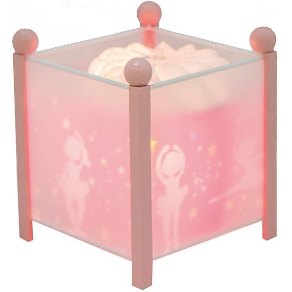 Светильник-ночник Балерина, 12V, TrousselierДетские предметы интерьера<br>Светильник-ночник Фея (цвет розовый), 12V, Trousselier (Трусалье) сделан в виде симпатичной игрушки, которая делает приятным и уютным погружение в сладкий мир сновидений.<br><br>Он светится нежным мягким светом, не раздражающим глазки даже ночью. Внутрь светильника встроен специальный механизм, вращающий цилиндр ночника от тепла лампочки.  Ночник упакован в праздничную коробку, что дает возможность преподнести его в качестве подарка на праздник.<br><br>Дополнительная информация:<br><br>- Цилиндр ночника вращается благодаря  системе нагрева от лампочки 12 V 20 W, розетка E 14.C. <br>- Размер: 16,50 см x 19 см. <br>- Материал: металлический корпус, деревянные ножки и углы, пластиковый, жароустойчивый цилиндр.<br>- Вес: 1037 г<br>- Поставляется в подарочной упаковке.<br>Соответствует нормам безопасности: CE EN 60598-2-10<br><br>Светильник-ночник Балерина, 12V, Trousselier можно купить в нашем магазине.<br><br>Ширина мм: 160<br>Глубина мм: 160<br>Высота мм: 190<br>Вес г: 1037<br>Возраст от месяцев: 36<br>Возраст до месяцев: 144<br>Пол: Женский<br>Возраст: Детский<br>SKU: 3807742