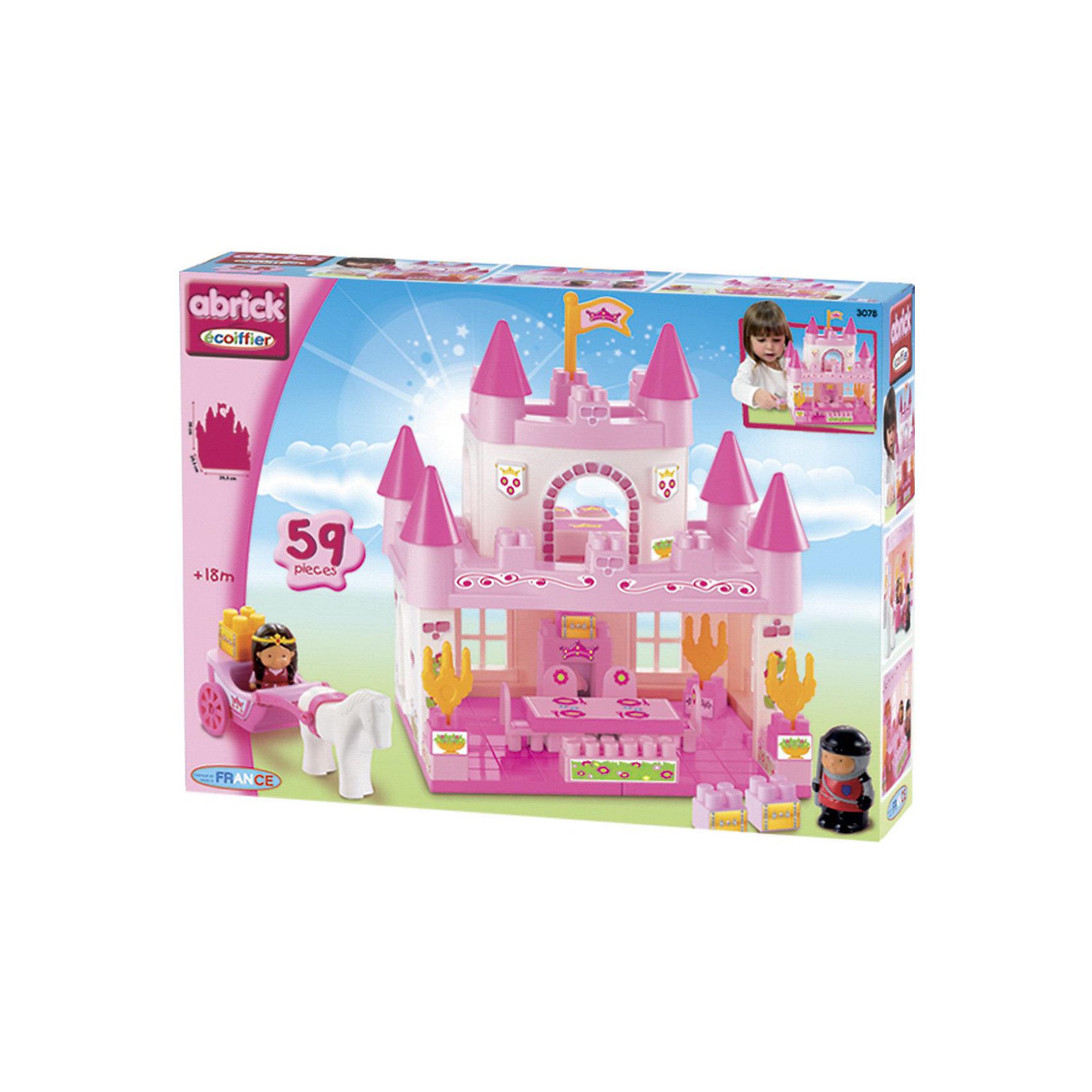 écoiffier Конструктор Замок принцессы, Ecoiffier ecoiffier замок принцессы 59 предметов