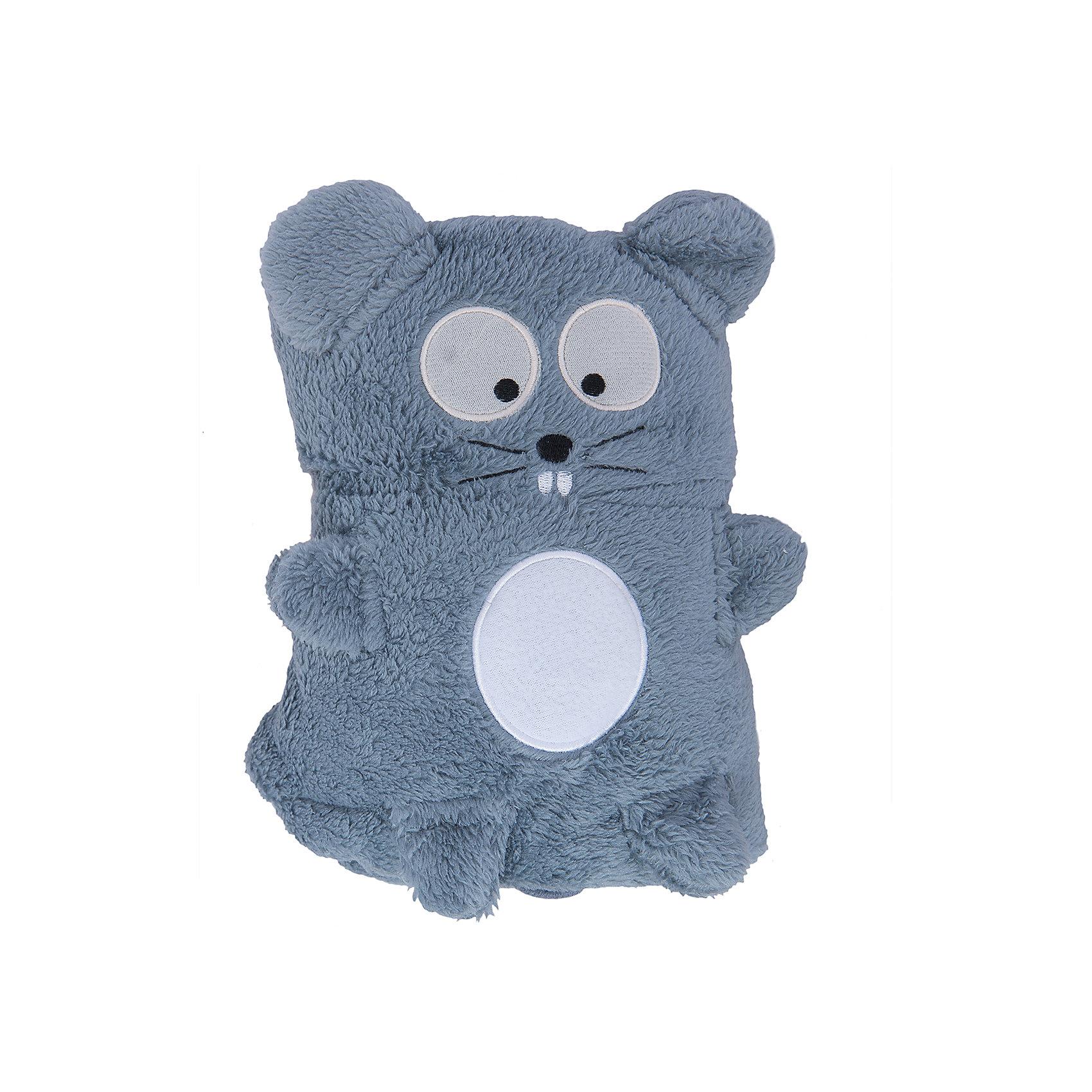 Трансформер Плед-Игрушка Серый Мышонок, 60x90 см, Coool ToysМягкие игрушки животные<br>Эта мягкая игрушка легко трансформируется в удобный и мягкий плед, накрывшись которым, ребеночку будет тепло и уютно. Нужно лишь расстегнуть пуговичку у игрушки и она превратится в мягкий плед. Игрушку-плед можно взять с собой в дорогу или на прогулку, в сложенном виде он не занимает много места.<br><br>Дополнительная информация:<br><br>- Размер пледа в сложенном виде: 15 х 10 х 22 см;<br>- Размер пледа в развернутом виде: 60 х 90 см; <br>- Материал: мягкий, стойкий к загрязнениям и легко стирающийся полиэстер. <br><br>Трансформер Плед-Игрушку Серый Мышонок, 60x90 см, Coool Toys можно купить в нашем магазине.<br><br>Ширина мм: 100<br>Глубина мм: 150<br>Высота мм: 220<br>Вес г: 200<br>Возраст от месяцев: 0<br>Возраст до месяцев: 120<br>Пол: Унисекс<br>Возраст: Детский<br>SKU: 3810094