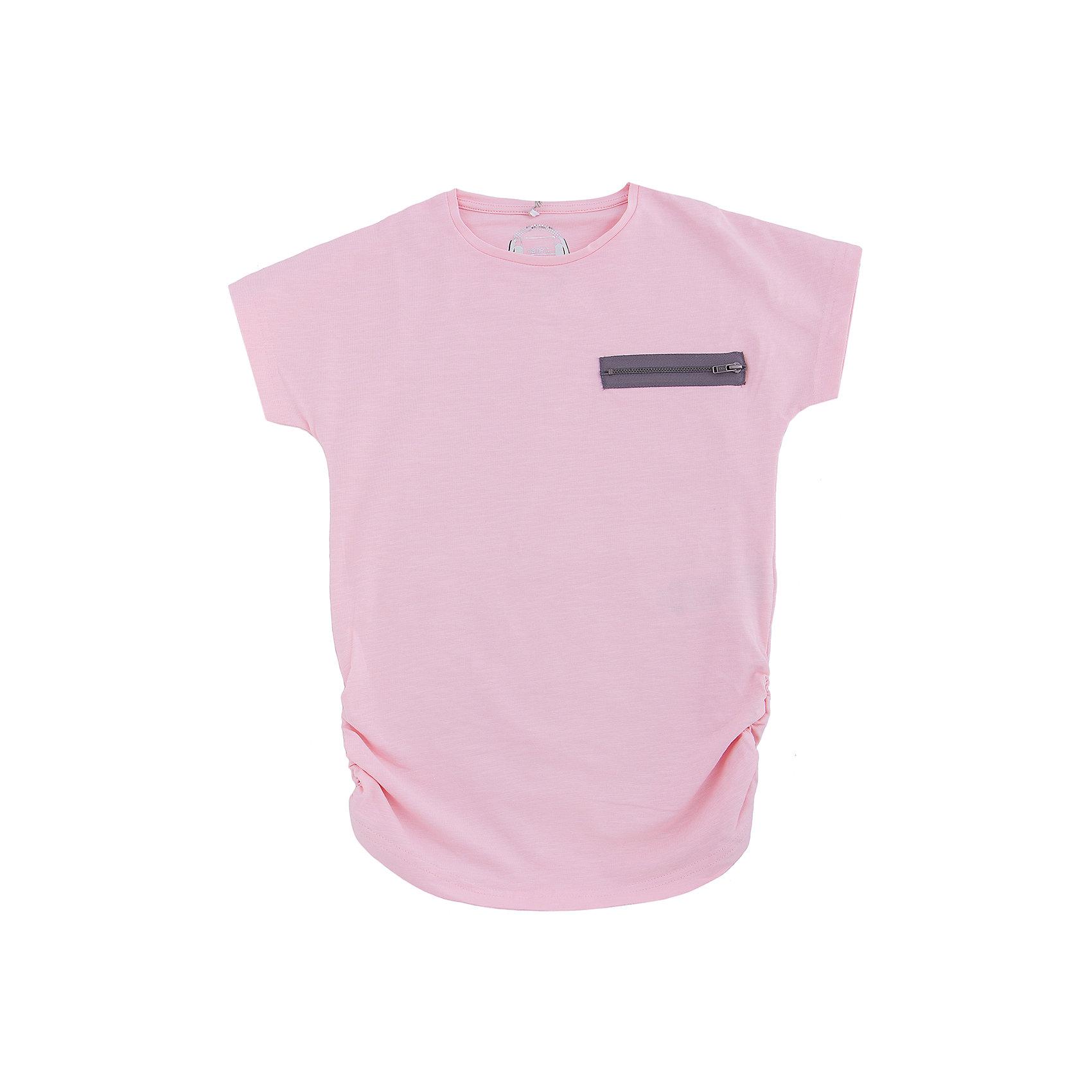 Футболка для девочки name itФутболка для девочки name it. Стильная нежно-розовая футболка - незаменимая вещь в гардеробе каждой юной модницы. Выполнена из высококачественного натурального материала приятного к телу. Модель прекрасно подойдет для повседневной носки, сочетается с любой одеждой.<br><br>Дополнительное описание:<br><br>- Вырез горловины округлый<br>- Цвет: светло-розовый<br>- Покрой: зауженный<br>- Декоративные элементы: аппликация<br>Параметры для размера 134-140<br>- Длина рукава: 15см<br><br>Состав: <br>95% хлопок, 5% эластан<br><br>Футболку для девочки name it ( нейм ит) можно купить в нашем магазине.<br><br>Ширина мм: 199<br>Глубина мм: 10<br>Высота мм: 161<br>Вес г: 151<br>Цвет: красный<br>Возраст от месяцев: 84<br>Возраст до месяцев: 96<br>Пол: Женский<br>Возраст: Детский<br>Размер: 128,140,152,110,116<br>SKU: 3811560