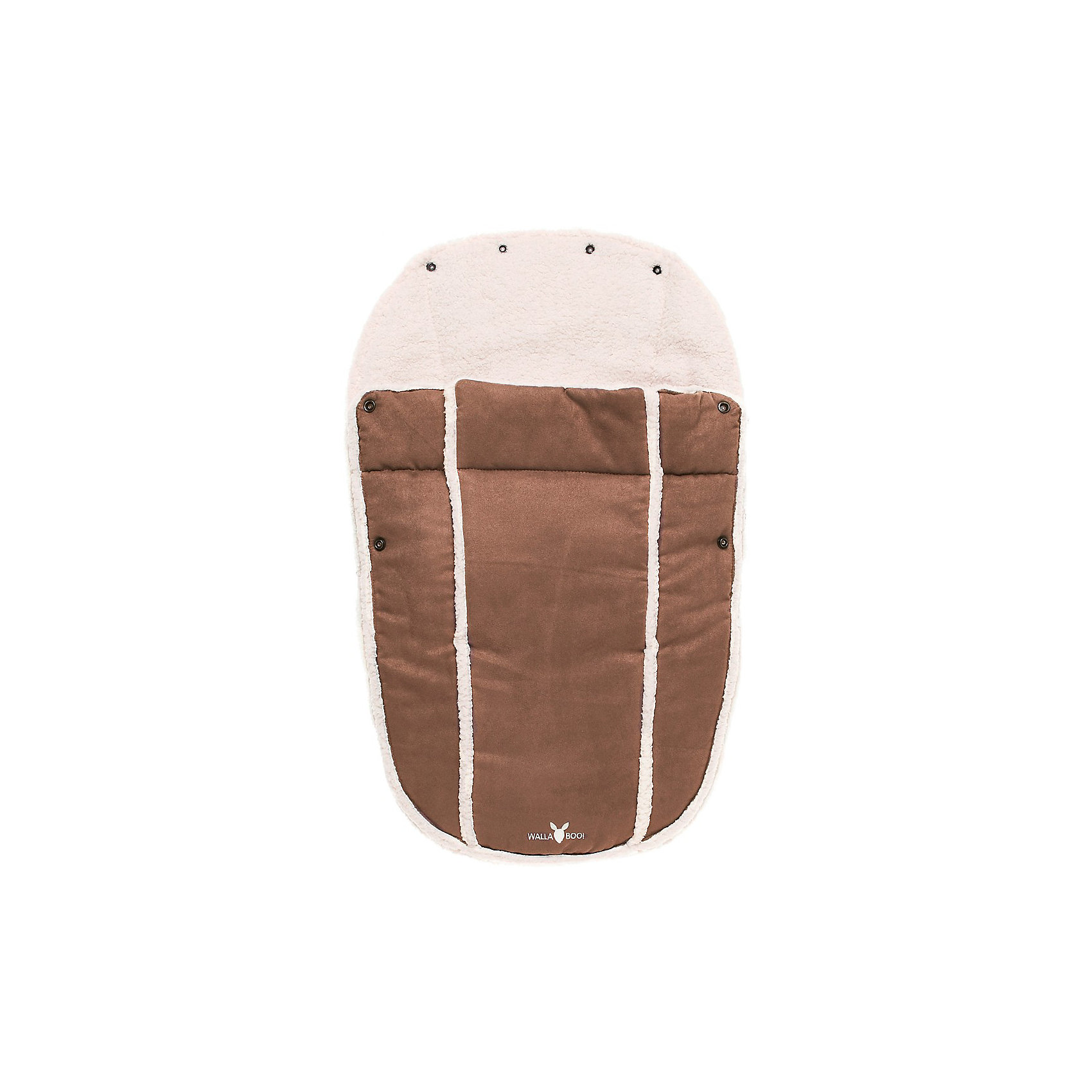 Конверт в коляску 0-12 месяцев, Wallaboo, шоколадКонверты<br>Ваш малыш не любит одеваться? Просто посадите его в уютный конверт, и Вы готовы к путешествию!<br><br>Конверт в коляску 0-12 мес., Wallaboo отличает великолепное качество: верх - микроволокнистая замша (гипоаллергенна, легка в уходе), а  внутри - мягчайший плюш под овечью шкурку. Конверт специально создан для удобства родителей и комфорта малыша: нет необходимости дополнительно надевать на ребенка курточку или теплый комбинезон в прохладную погоду или во время перевозки малыша в автомобиле.<br>Конверт многофункциональный:    <br>- легко пристегивается к автокреслу группы 0 и 0+<br>- можно использовать как конверт на выписку из роддома<br>- если отстегнуть верхнюю часть, муфта превращается в мягкий чехол-подкладку <br><br>Удобно Вам и комфортно малышу:<br><br>- верхняя часть конверта при помощи специальных кнопок образует капюшон и защищает малыша от ветра и непогоды<br>- две боковые застежки-молнии по всей длине конверта, позволяют полностью и очень быстро отстегнуть верхнюю часть муфты от внутренней<br><br>Дополнительная информация:<br><br>- Наполнитель – синтепон 120 грамм.<br>- Подходит для кресел с 3-х и 5-титочечными ремнями безопасности<br>- Машинная стирка при температуре 30 градусов. Быстро сохнет.<br>- Размер: 45 х 72 см<br>- Вес: 500 г<br><br>Конверт в коляску 0-12 месяцев, Wallaboo, шоколад можно купить в нашем магазине.<br><br>Ширина мм: 450<br>Глубина мм: 350<br>Высота мм: 70<br>Вес г: 500<br>Цвет: коричневый<br>Возраст от месяцев: 0<br>Возраст до месяцев: 12<br>Пол: Унисекс<br>Возраст: Детский<br>SKU: 3812565