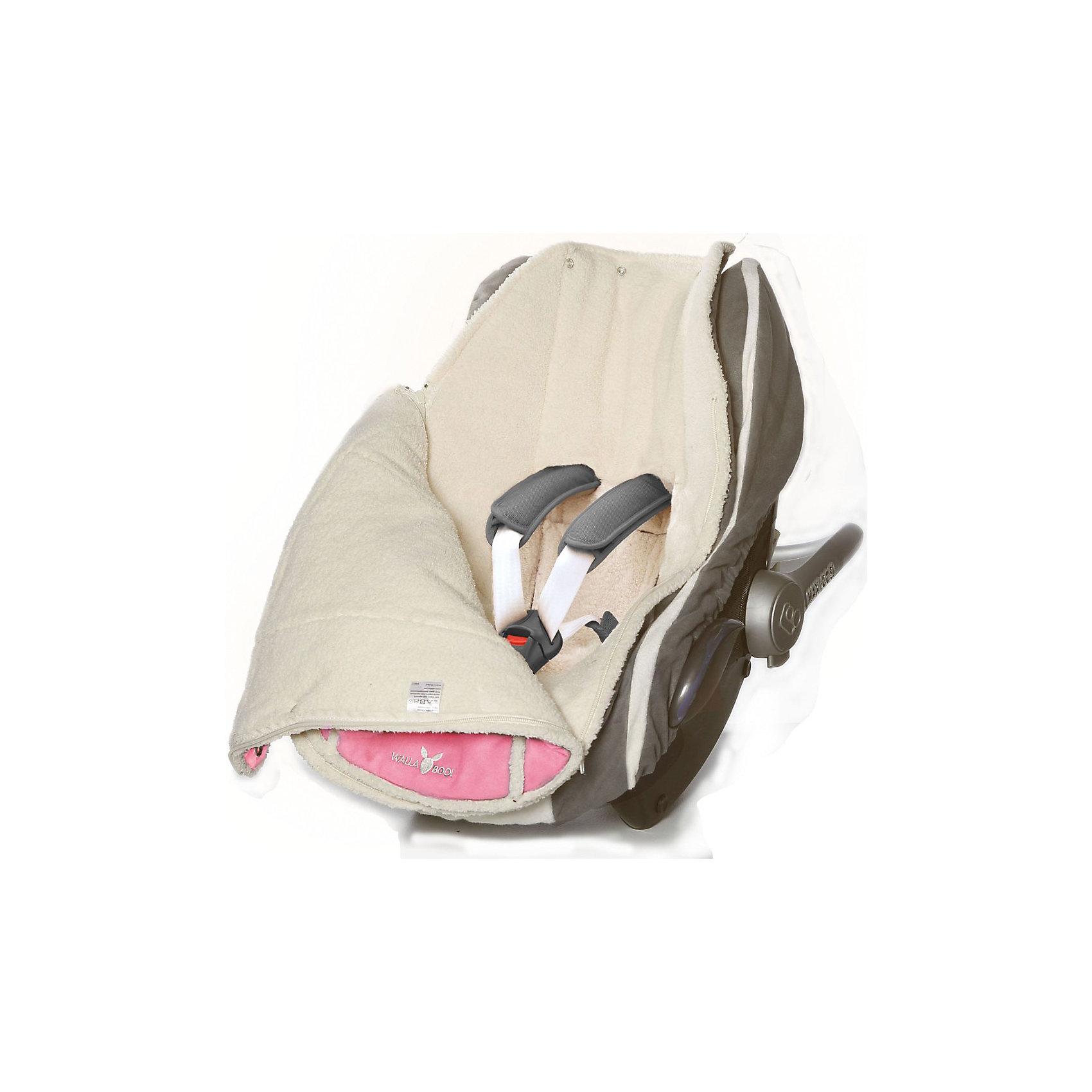 Конверт в коляску 0-12 месяцев, Wallaboo, розовый от myToys