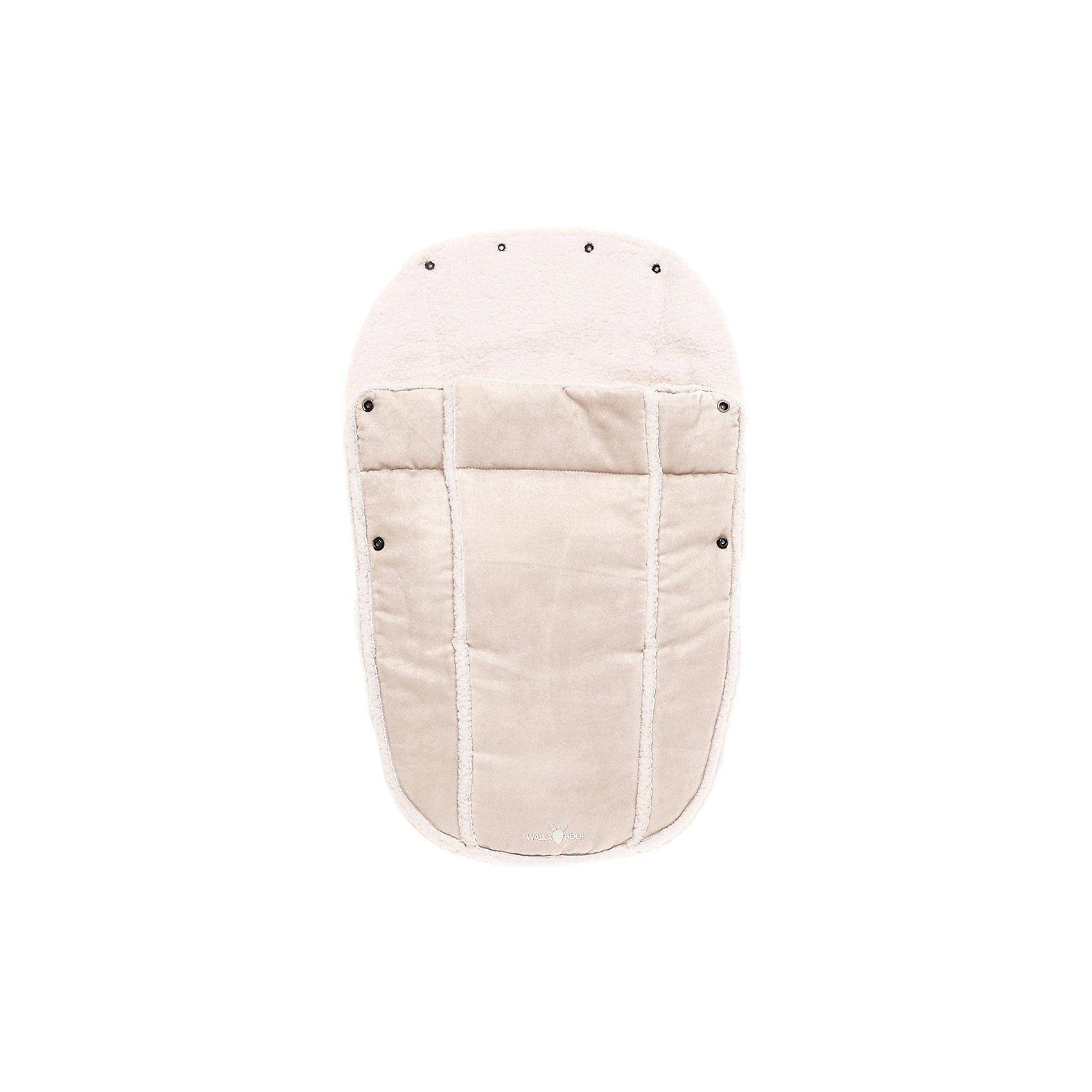 Конверт в коляску 0-12 месяцев, Wallaboo, экрюВаш малыш не любит одеваться? Просто посадите его в уютный конверт, и Вы готовы к путешествию!<br><br>Конверт в коляску 0-12 мес., Wallaboo отличает великолепное качество: верх - микроволокнистая замша (гипоаллергенна, легка в уходе), а  внутри - мягчайший плюш под овечью шкурку. Конверт специально создан для удобства родителей и комфорта малыша: нет необходимости дополнительно надевать на ребенка курточку или теплый комбинезон в прохладную погоду или во время перевозки малыша в автомобиле.<br>Конверт многофункциональный:    <br>- легко пристегивается к автокреслу группы 0 и 0+<br>- можно использовать как конверт на выписку из роддома<br>- если отстегнуть верхнюю часть, муфта превращается в мягкий чехол-подкладку <br><br>Удобно Вам и комфортно малышу:<br><br>- верхняя часть конверта при помощи специальных кнопок образует капюшон и защищает малыша от ветра и непогоды<br>- две боковые застежки-молнии по всей длине конверта, позволяют полностью и очень быстро отстегнуть верхнюю часть муфты от внутренней<br><br>Дополнительная информация:<br><br>- Наполнитель – синтепон 120 грамм.<br>- Подходит для кресел с 3-х и 5-титочечными ремнями безопасности<br>- Машинная стирка при температуре 30 градусов. Быстро сохнет.<br>- Размер: 45 х 72 см<br>- Вес: 500 г<br><br>Конверт в коляску 0-12 месяцев, Wallaboo, экрю можно купить в нашем магазине.<br><br>Ширина мм: 450<br>Глубина мм: 350<br>Высота мм: 70<br>Вес г: 500<br>Цвет: экрю<br>Возраст от месяцев: 0<br>Возраст до месяцев: 12<br>Пол: Унисекс<br>Возраст: Детский<br>SKU: 3812568