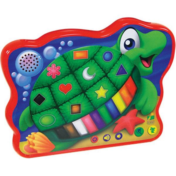 Весёлая морская черепашка, со светом и звуком, 23см,  The Learning JourneyИнтерактивные животные<br>Весёлая морская черепашка, The Learning Journey - красочная развивающая игрушка, которая обязательно привлечет внимание Вашего малыша. Игрушка выполнена в виде забавной черепашки с 23 сенсорными кнопочками, нажимая на которые ребенок познакомится с цифрами и освоит простой счет. Игра сопровождается световыми эффектами. Есть клавиша регулировки громкости. Игрушка развивает логическое мышление, звуковое  и сенсорное восприятие ребенка.<br><br>Дополнительная информация:<br><br>- Требуются батарейки: 2 батареек АА (входят в комплект).<br>- Материал: пластик.<br>- Размер упаковки: 33 х 30,5 х 6,4 см.<br>- Вес: 1,082 кг. <br><br>Развивающую игрушку Весёлая морская черепашка, The Learning Journey можно купить в нашем интернет-магазине.<br><br>Ширина мм: 330<br>Глубина мм: 64<br>Высота мм: 305<br>Вес г: 800<br>Возраст от месяцев: 24<br>Возраст до месяцев: 72<br>Пол: Унисекс<br>Возраст: Детский<br>SKU: 3813005