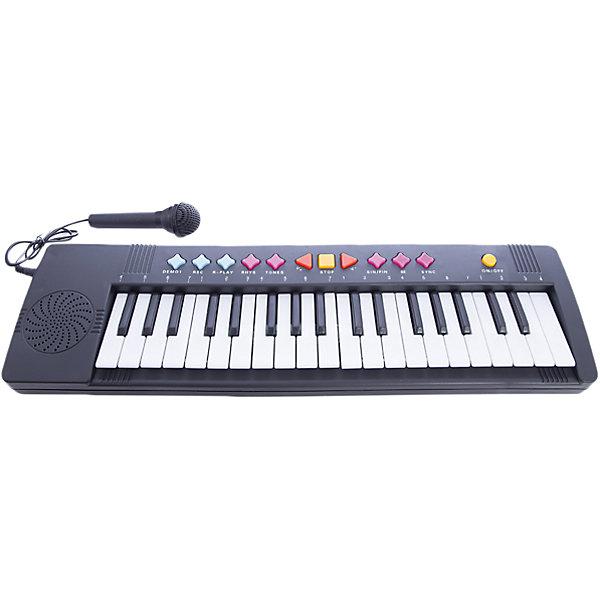 Синтезатор, 37 клавиш, 52 см,  DoReMiДетские музыкальные инструменты<br>Синтезатор, DoReMi станет замечательным подарком для Вашего ребенка и привлечет его к занятиям музыкой. Игрушку можно использовать как пианино с 37 клавишами, удобными для детских пальчиков и как синтезатор. Синтезатор обладает множеством функций которые позволяют создавать свои собственные композиции, экспериментируя с звуком и меняя тон и темп. На панели имеются кнопки с 16 звуками музыкальных инструментов и различными темпами ритма, а также с 6 записанными песнями.<br><br>Уровень громкости регулируется (16 уровней громкости), есть функция игры одним пальцем. Если включить функцию караоке и встроенный микрофон то можно почувствовать себя настоящим певцом и устраивать настоящие концерты. А с помощью функции  записи ребенок сможет сохранить созданные им композиции и воспроизвести их после. Предусмотрен режим обучения и автоматическое отключение. Игрушка развивает у ребенка чувство ритма, двигательную активность рук и музыкальный слух.<br><br> Дополнительная информация:<br><br>- Материал: пластик.<br>- Размер игрушки: 54 см.<br>- Размер упаковки: 54,5 х 5,5 х 15 см.<br>- Вес: 0,458 кг.<br><br>Синтезатор, DoReMi можно купить в нашем интернет-магазине.<br><br>Ширина мм: 545<br>Глубина мм: 55<br>Высота мм: 150<br>Вес г: 458<br>Возраст от месяцев: 60<br>Возраст до месяцев: 84<br>Пол: Унисекс<br>Возраст: Детский<br>SKU: 3813013