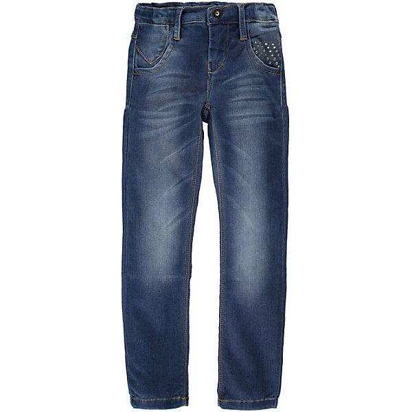 Джинсы для девочки name itДжинсы<br>Джинсы для девочки name it.  Классические синие джинсы прямого покроя подойдут к любой одежде и обуви. Удобная демократичная модель. Изделие выполнено из высококачественного прочного материала , прекрасно сидит на фигуре, не растягивается после стирки. Идеальный вариант на каждый день.<br><br>Дополнительное описание :<br>- Тип карманов: втачные<br>- Крой брючин: прямой<br>- Цвет: синий, потертости.<br>- Застежка: молния.<br>- Декоративные элементы: заклепки<br>Параметры для размера 140<br>-  Длина по внутреннему шву: 66 см<br>- Высота посадки: 19 см<br>- Ширина брючин низ: 16см<br>- Ширина брючин верх: 17 см<br><br>состав:<br>41% вискоза, 31% хлопок, 25% полиэстер, 3% эластан<br><br>Джинсы для девочки name it (нэйм ит) можно купить в нашем магазине<br><br>Ширина мм: 215<br>Глубина мм: 88<br>Высота мм: 191<br>Вес г: 336<br>Цвет: темно-синий<br>Возраст от месяцев: 84<br>Возраст до месяцев: 96<br>Пол: Женский<br>Возраст: Детский<br>Размер: 128,152,116,134,140,110,146,122<br>SKU: 3815261