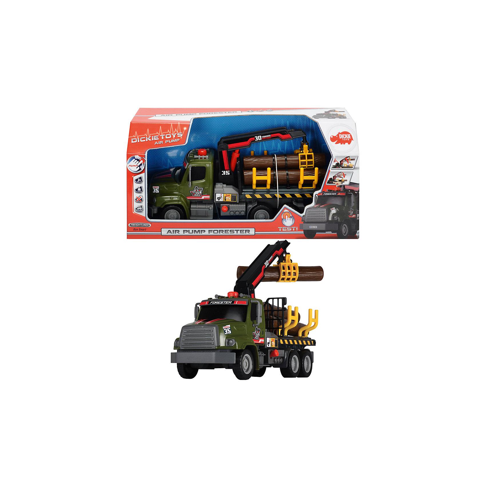 Грузовик с манипулятором, 32см, DickieМашинки<br>Многофункциональный грузовик, оснащенный погрузчиком обязательно понравится мальчикам. Машинка оснащена фрикционным механизмом и может двигаться самостоятельно в течение некоторого времени. Грузовик предназначен для обеспечения погрузочно-разгрузочных работ, поэтому снабжен подвижным краном с приспособлениями для захвата грузов.  Машина прекрасно детализирована, имеет специальные опоры для устойчивости и подвижные колеса с широкими рельефными протекторами. Игрушка выполнена из прочных экологичных материалов, в производстве которых использованы нетоксичные, безопасные красители. <br><br>Дополнительная информация:<br><br>- Материал: пластик, металл.<br>- Размер: 32 см.<br>- Подвижные колеса.<br>- Механизм захвата груза.<br>- Комплектация: груз, машинка. <br><br>Грузовик с манипулятором, 32см, Dickie (Дикки), можно купить в нашем магазине.<br><br>Ширина мм: 402<br>Глубина мм: 203<br>Высота мм: 134<br>Вес г: 696<br>Возраст от месяцев: 36<br>Возраст до месяцев: 84<br>Пол: Мужской<br>Возраст: Детский<br>SKU: 3816288