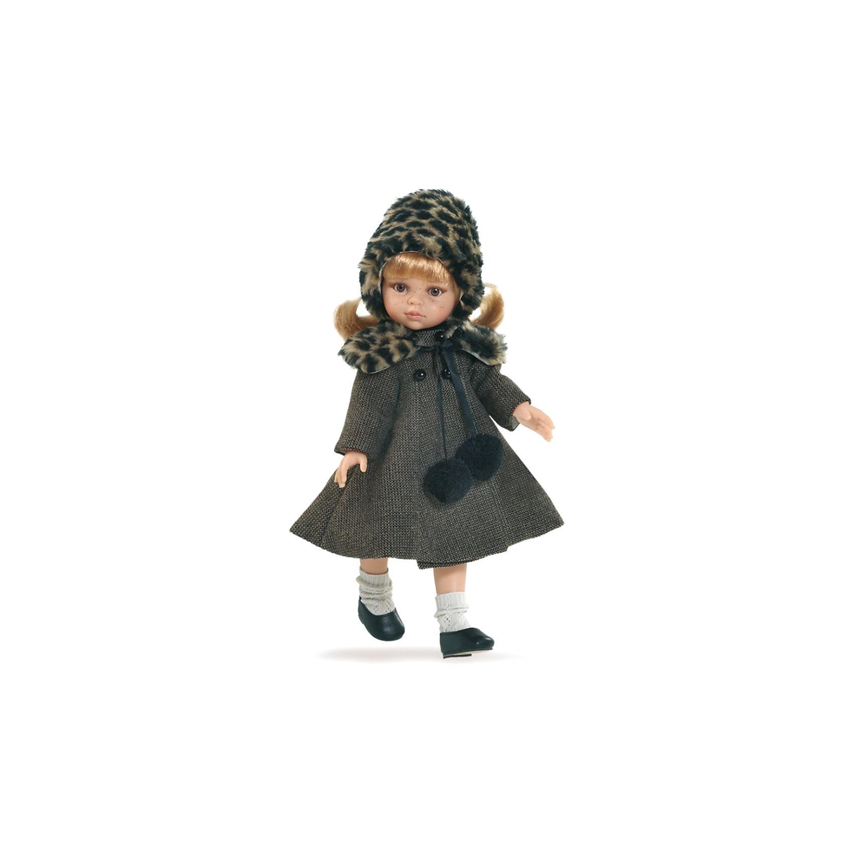Кукла Даша, 32см, Paola ReinaКукла Даша, 32см, Paola Reina (Паола Рейна) - очень красивая кукла, настоящая маленькая модница. Она одета в легкое осеннее пальто с пушистым меховым воротником. Из такого же меха сделана и шапочка из под которой выбиваются длинные белокурые волосы. На ногах - белые гольфы и черные балетки. Дополняем образ юной модницы изысканный аромат ванили. Кукла имеет уникальный, неповторимый дизайн лица и тела - все мельчайшие делали идеально выполнены и проработаны.<br>Кукла отличается высоким качеством и производится из высококачественного винила без вредных эфирных соединений и безопасна для детей.<br><br>Дополнительная информация:<br><br>- Ручная работа (ресницы, веснушки, щечки, губы, прическа) делает кукол от Paola Reina настолько натуральными, что их лицо выглядит совсем как живое<br>- Ножки, ручки и голова поворачиваются<br>- Глаза не закрываются<br>- Волосы очень похожи на натуральные, они легко расчесываются и блестят<br>- Эксклюзивная одежда из высококачественного текстиля<br>- Материалы: кукла изготовлена из винила, глаза выполнены в виде кристалла из прозрачного твердого пластика, волосы сделаны из высококачественного нейлона<br>- Национальность: европейка<br>- Рост куклы: 32 см.<br>- Упакована в картонную коробку с окошком<br>- Качество подтверждено нормами безопасности EN17 ЕЭС<br><br>Куклу Дашу, 32см, Paola Reina (Паола Рейна) можно купить в нашем интернет-магазине.<br><br>Ширина мм: 105<br>Глубина мм: 225<br>Высота мм: 405<br>Вес г: 667<br>Возраст от месяцев: 36<br>Возраст до месяцев: 144<br>Пол: Женский<br>Возраст: Детский<br>SKU: 3816431