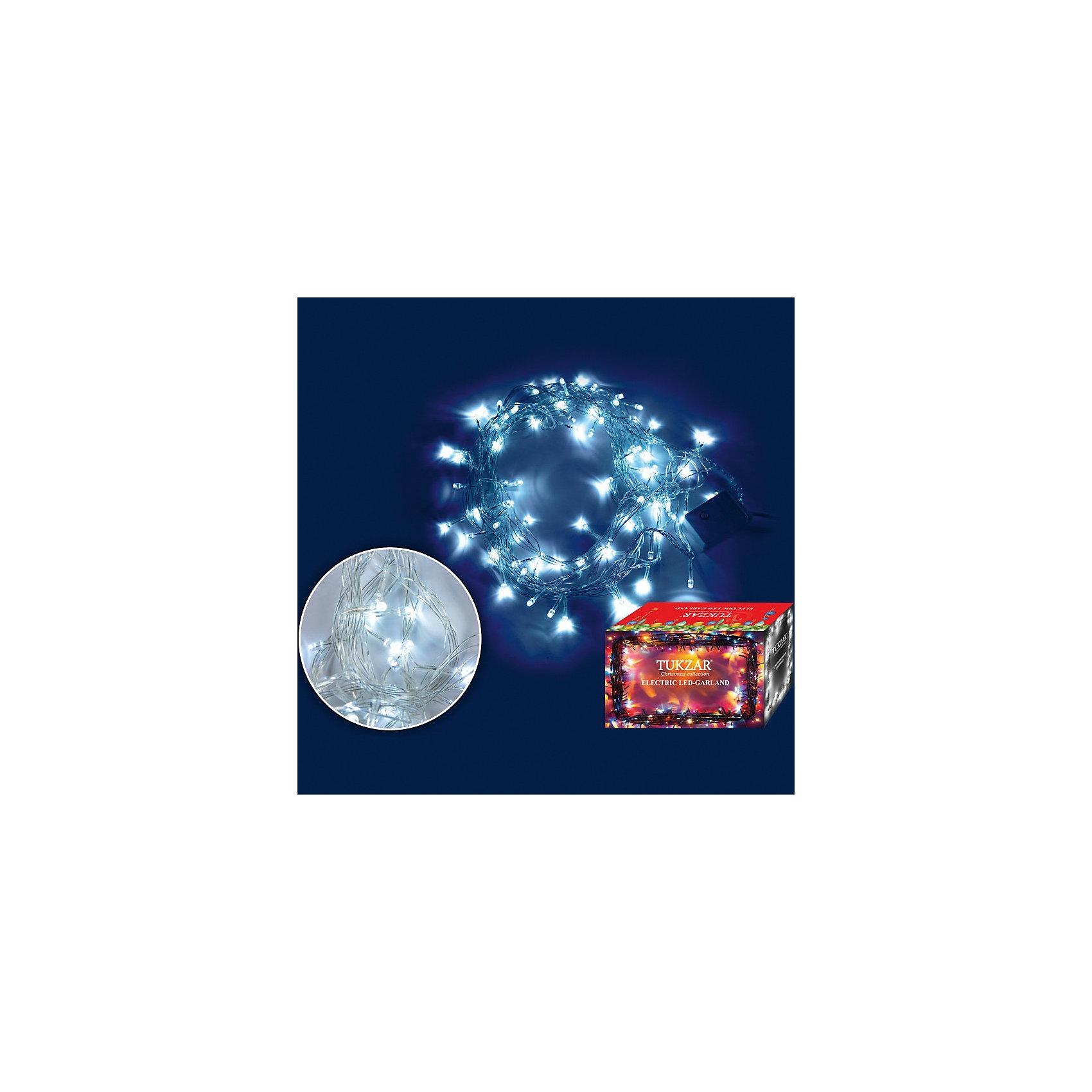 Светодиодная гирлянда, 5 м, 80 ламп, БЕЛЫЙЭлектрическая гирлянда. Новогодняя гирлянда - незаменимый атрибут любого новогоднего торжества! Подходит для украшения елки или же оформления витрин и помещений.<br><br>Дополнительная информация:<br><br>- Материал: пластик.<br>- Цвет: бело- лунный свечение лампочек<br>- Размер: 5 м<br>- 80 ламп<br>- Прозрачный провод.<br>- 8-режимным контроллер<br><br>Электрическую гирлянду можно купить в нашем магазине.<br><br>Ширина мм: 177<br>Глубина мм: 100<br>Высота мм: 100<br>Вес г: 177<br>Возраст от месяцев: 36<br>Возраст до месяцев: 216<br>Пол: Унисекс<br>Возраст: Детский<br>SKU: 3822105